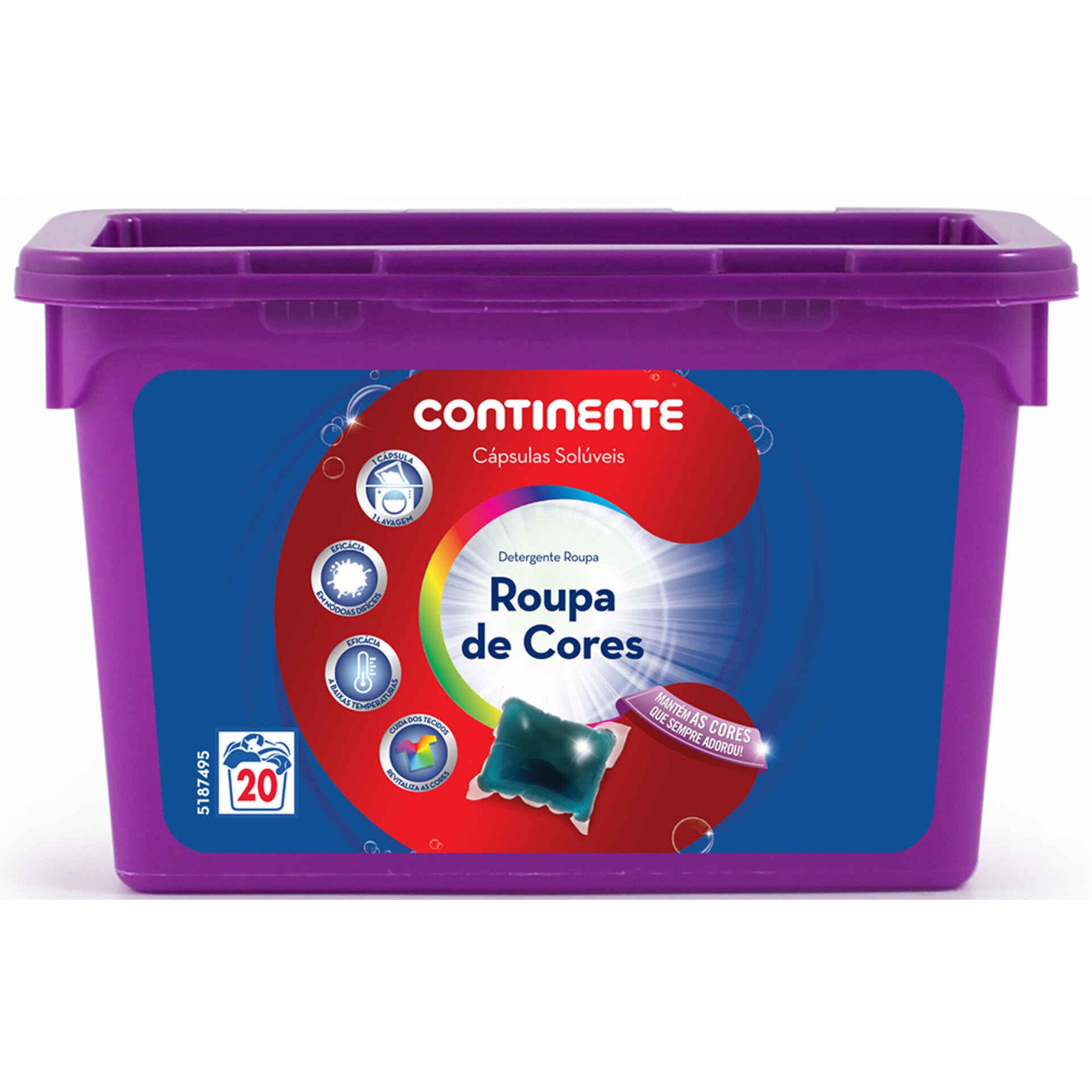 Detergente Máquina Roupa Cápsulas Cores, , hi-res