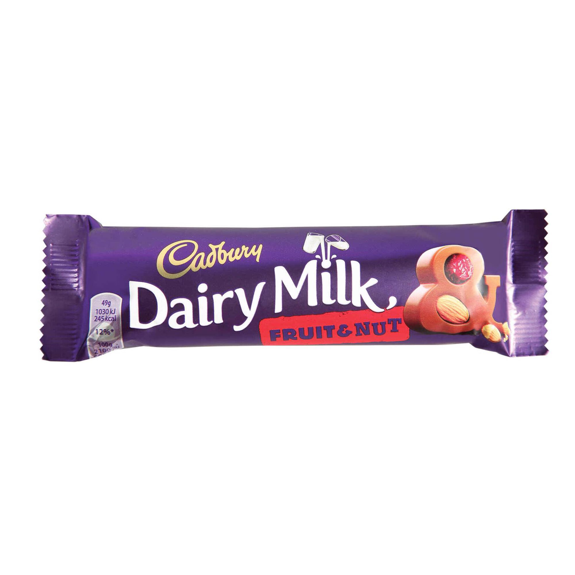 Snack de Chocolate de Leite com Frutos Secos e Passas Dairy Milk