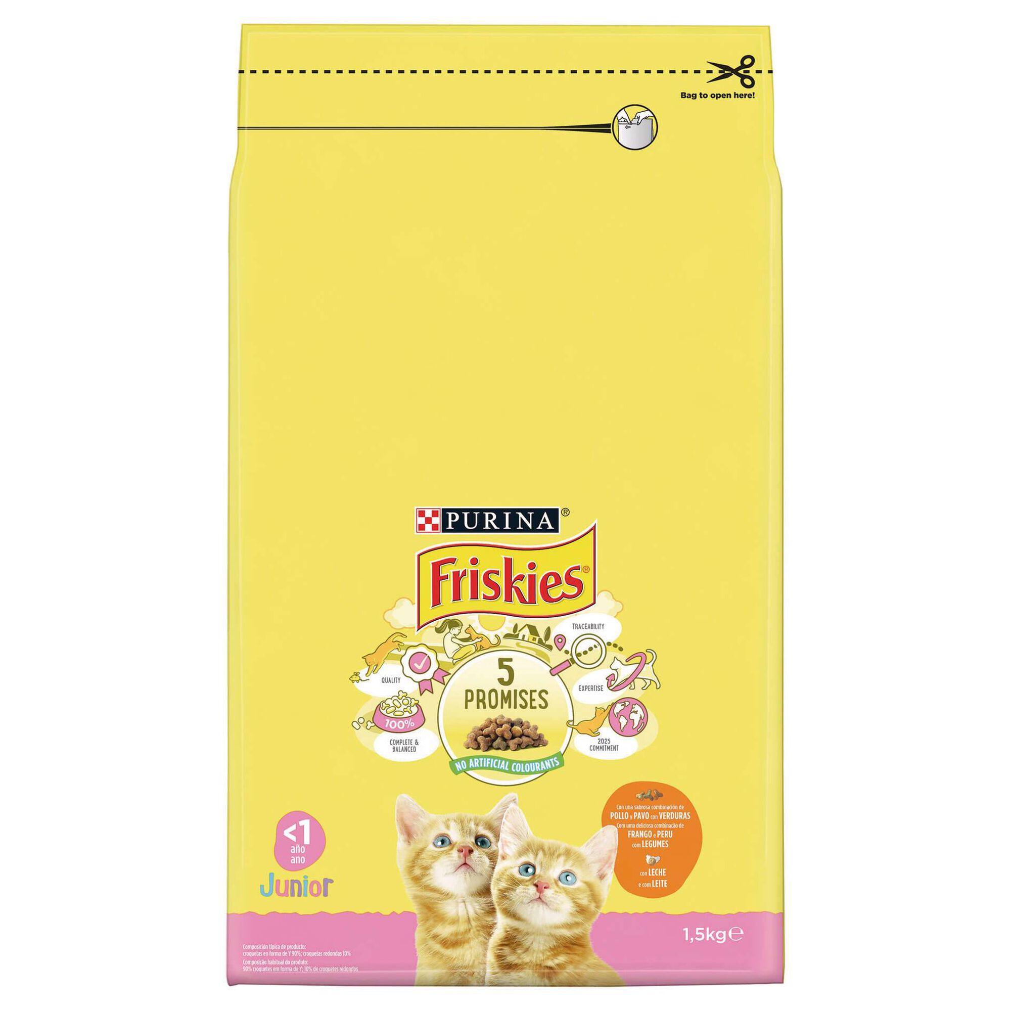 Ração para Gato Júnior Frango e Legumes