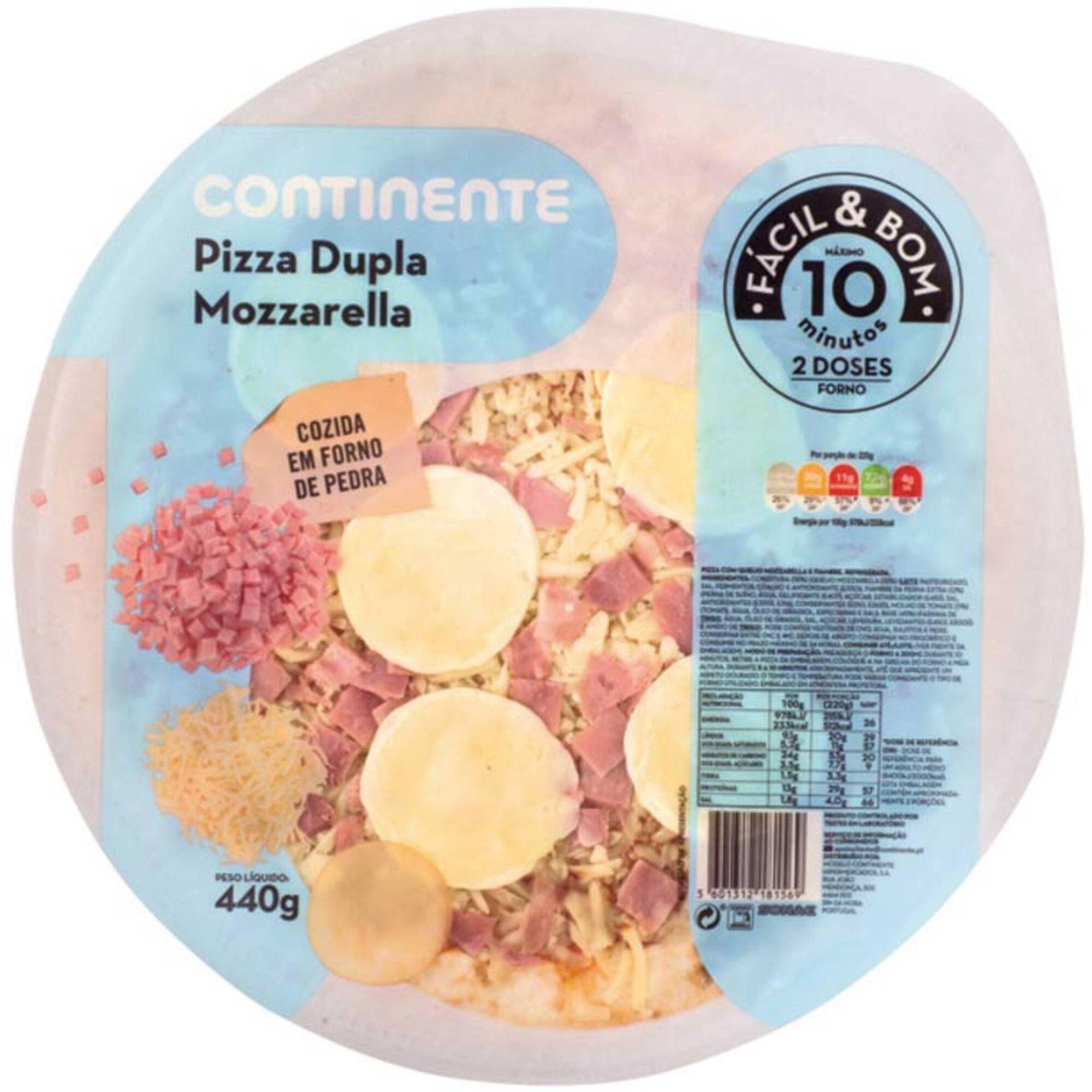 Pizza Fresca de Fiambre e Dupla Mozzarella
