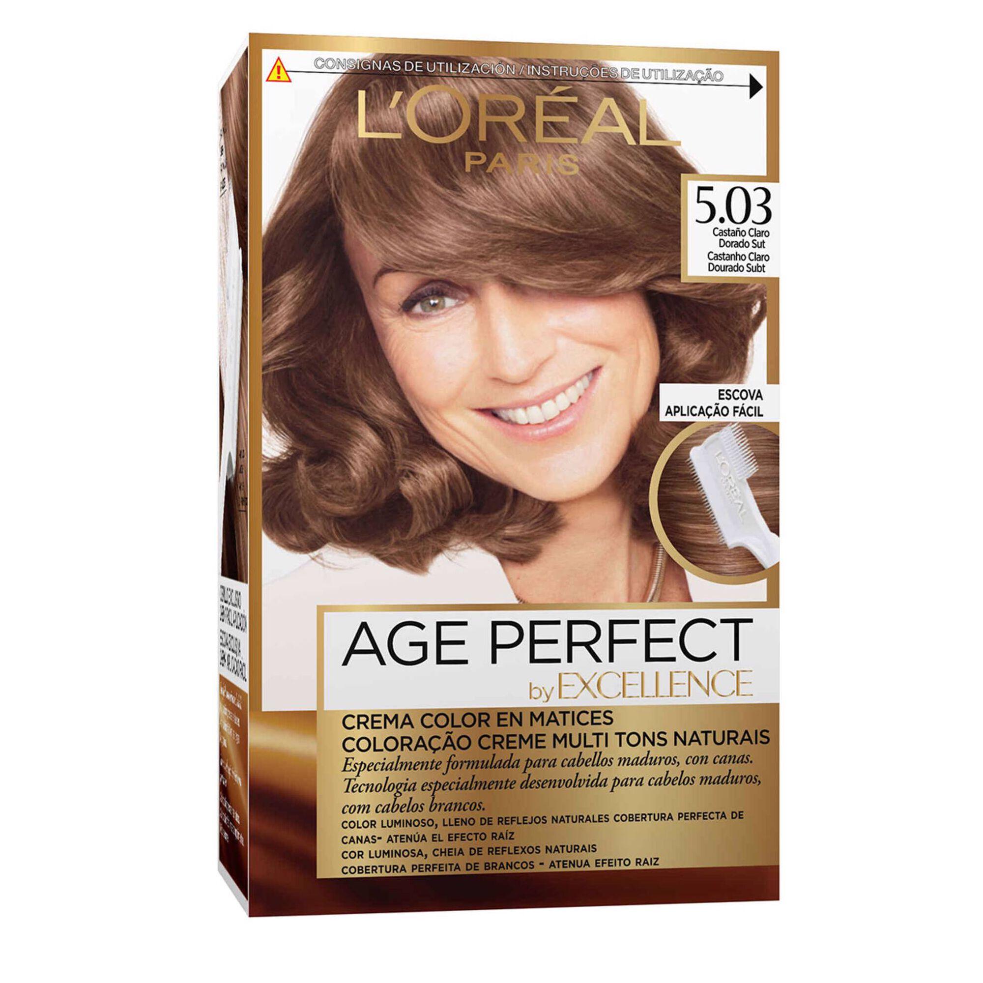 Coloração Permanente Excellence Age Perfect Castanho Claro 5.03