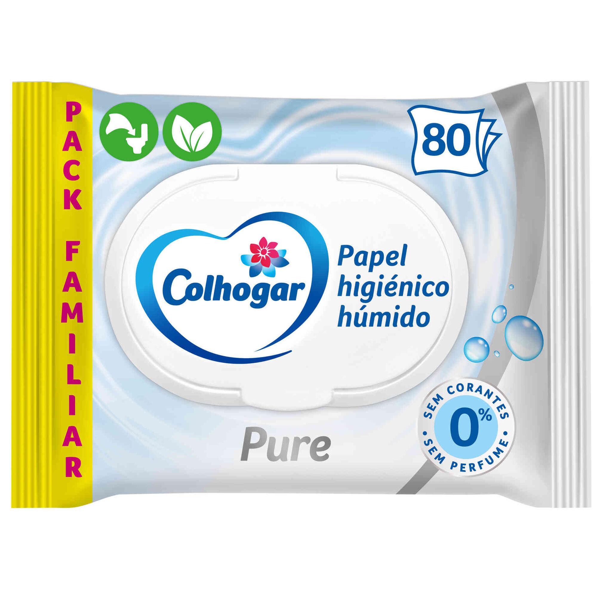 Papel Higiénico Húmido Pure
