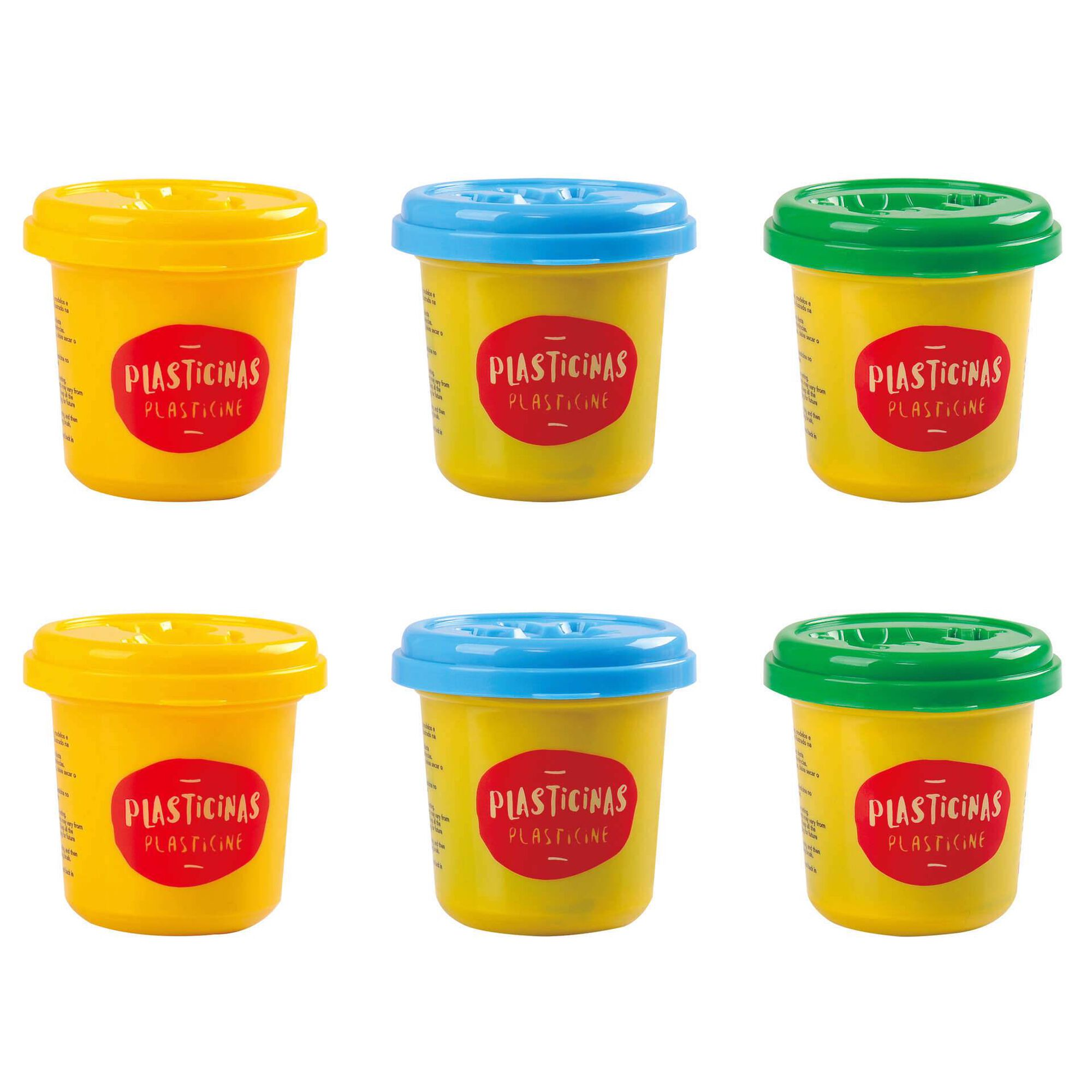 Conjunto de 6 Potes de Plasticina