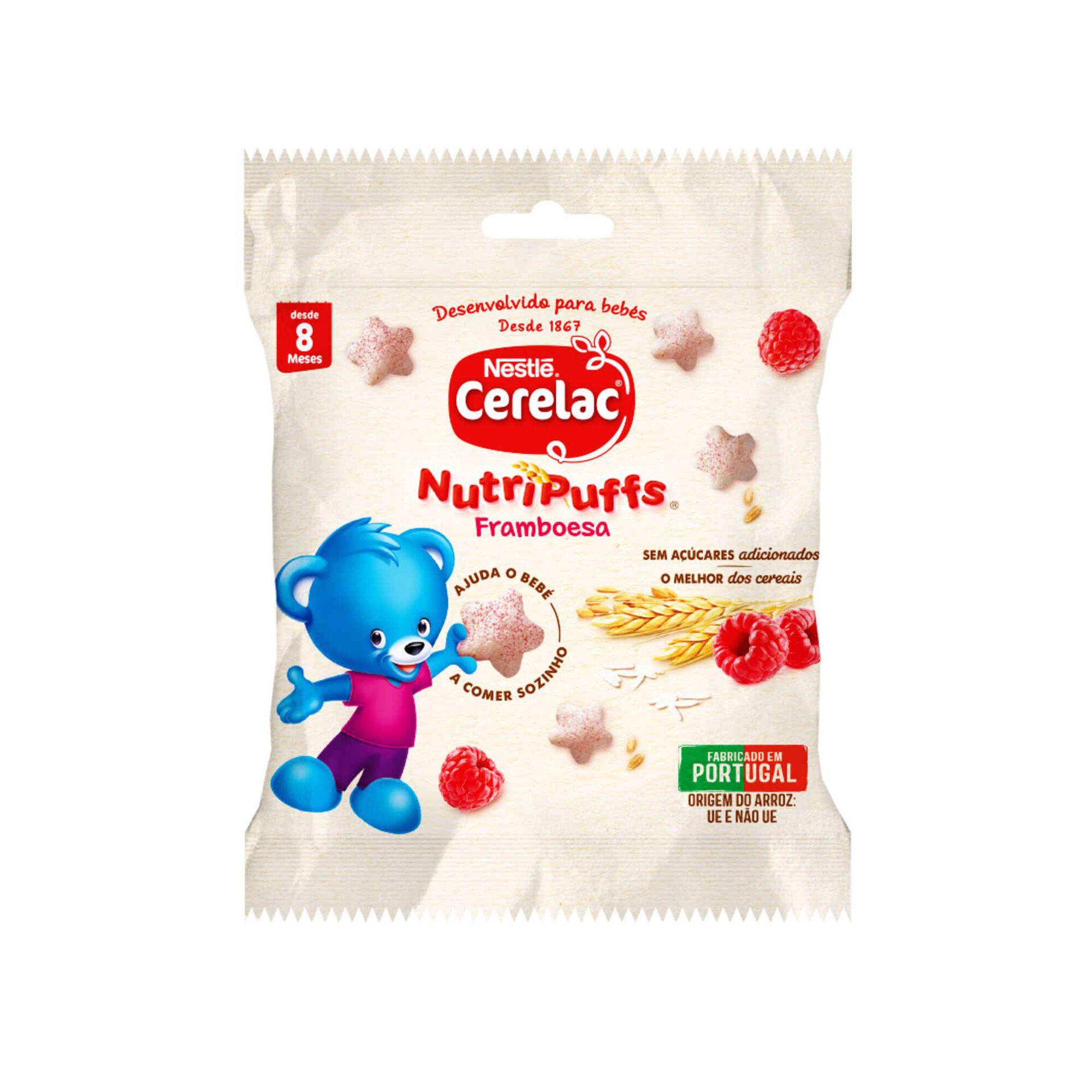 Snack para Bebé de Framboesa NutriPuffs +8 Meses