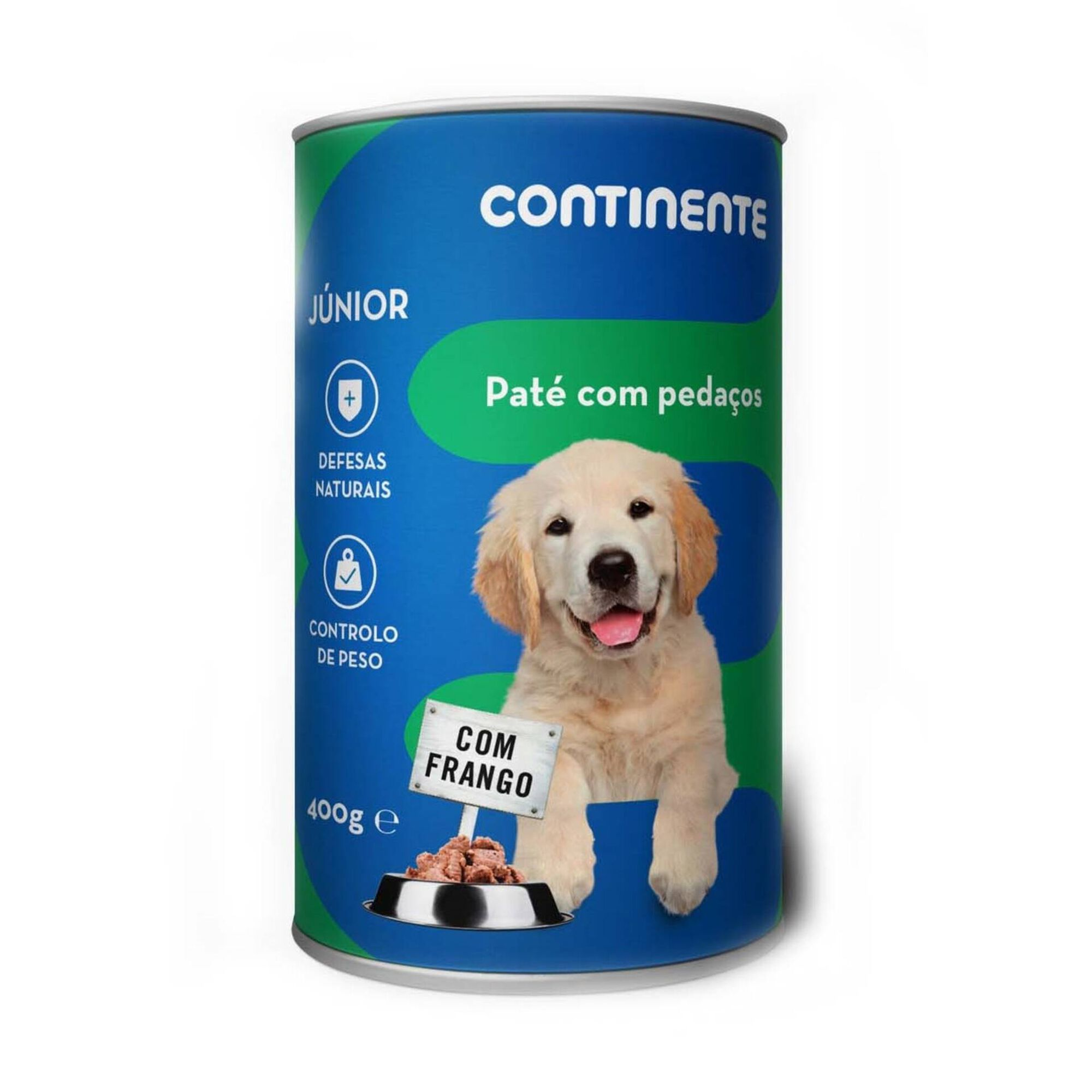 Comida Húmida para Cão Júnior Patê com Pedaços Frango Lata