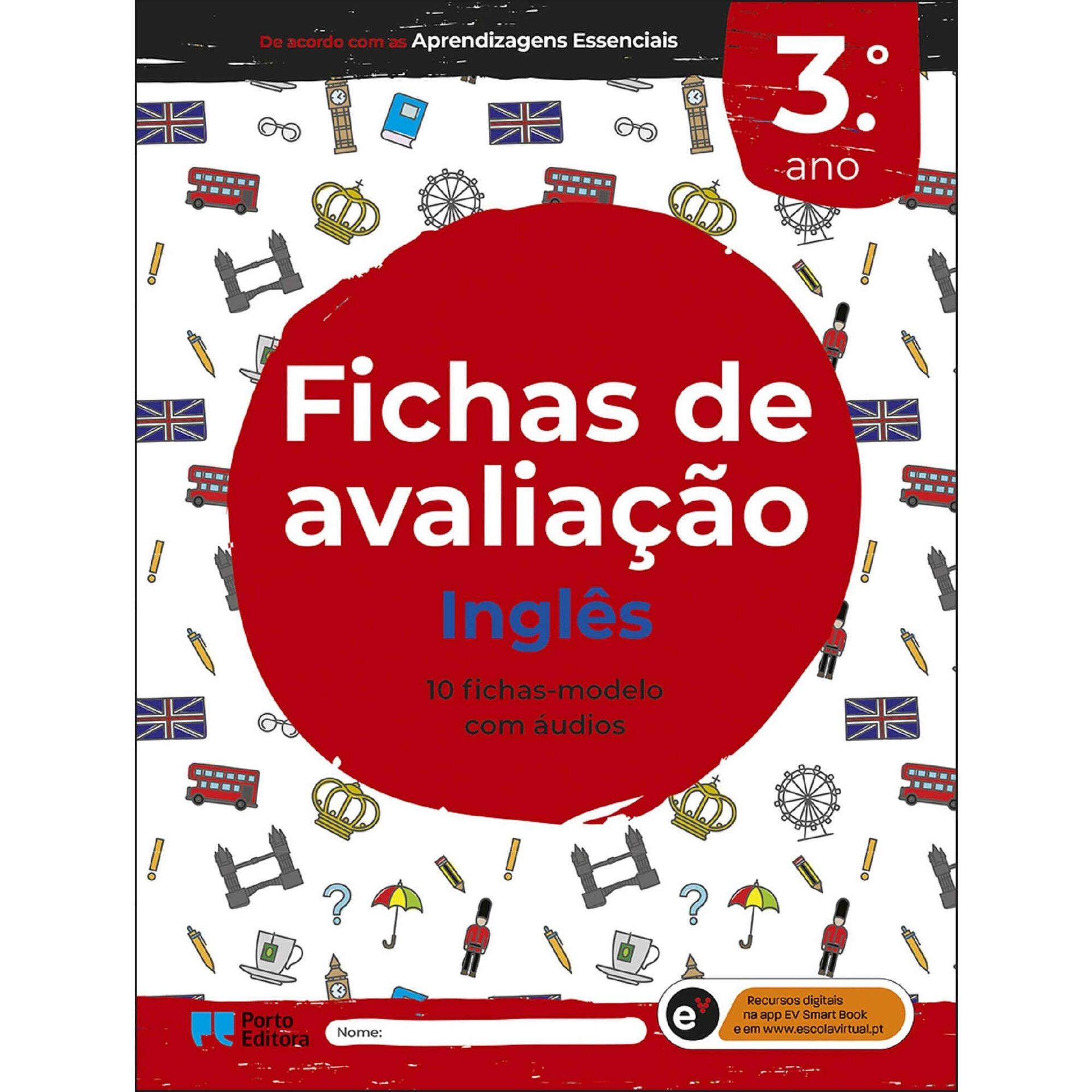 Fichas de avaliação - Inglês - 3º Ano