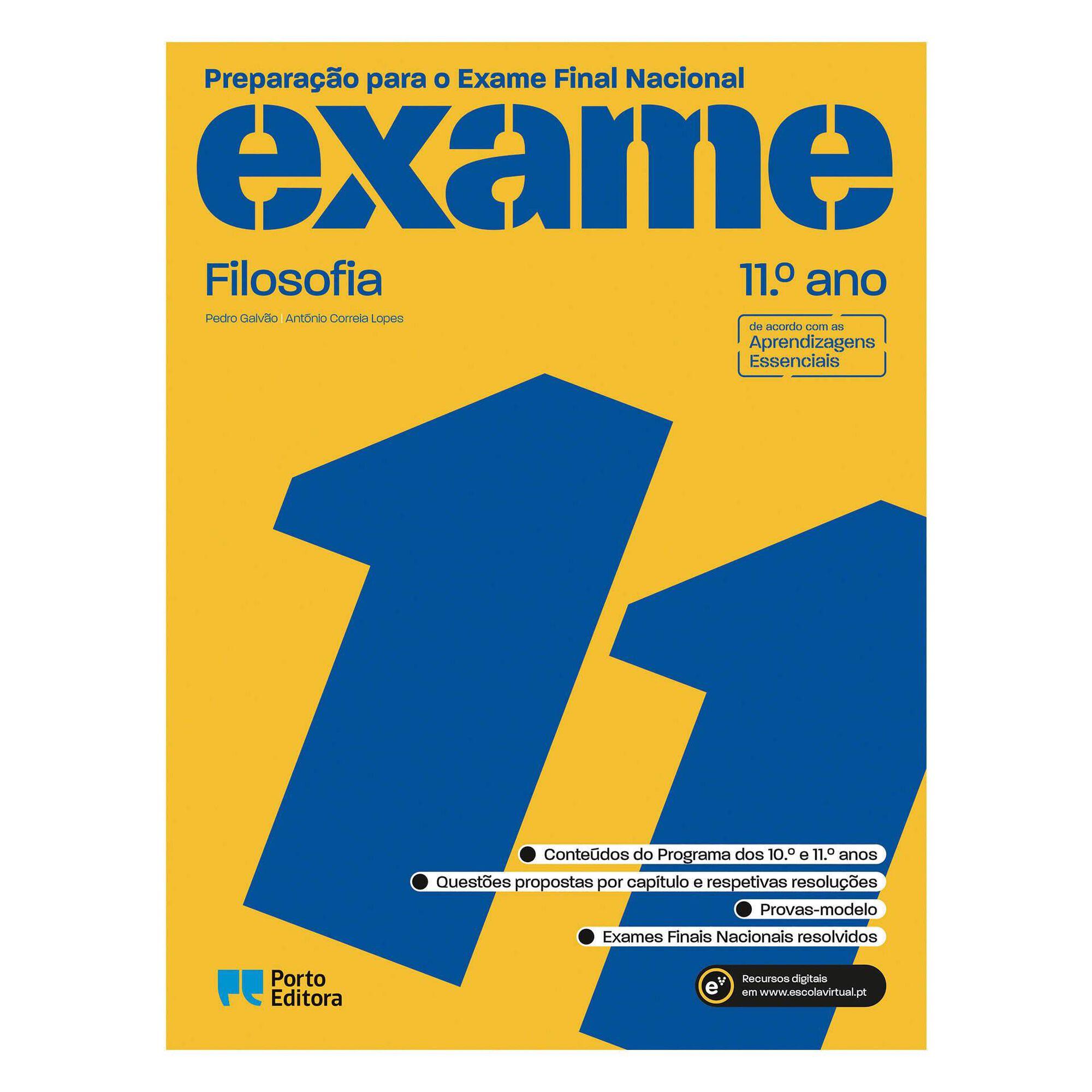 Preparação para o Exame Final Nacional 2021 - Filosofia - 11º Ano