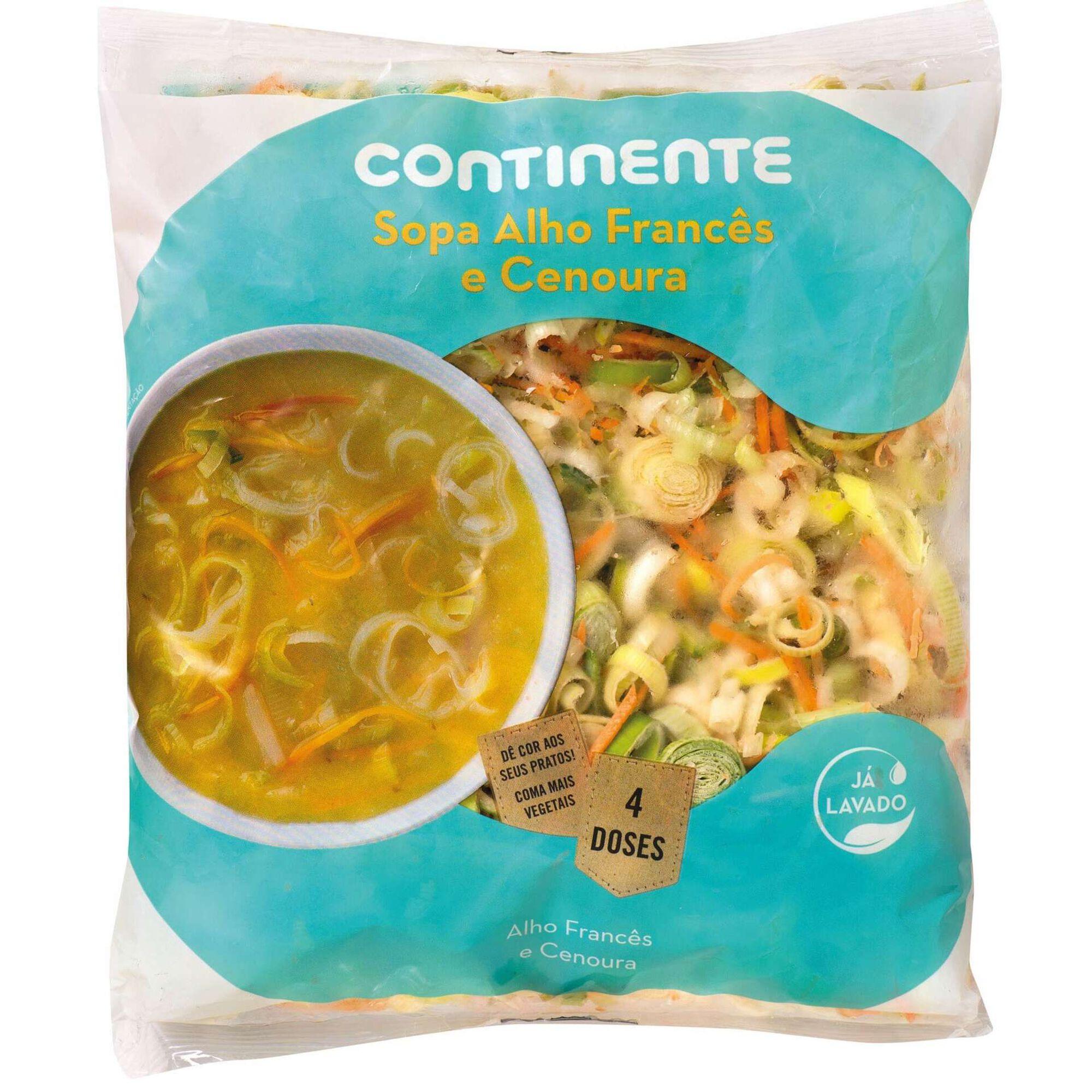 Sopa Alho Francês com Cenoura