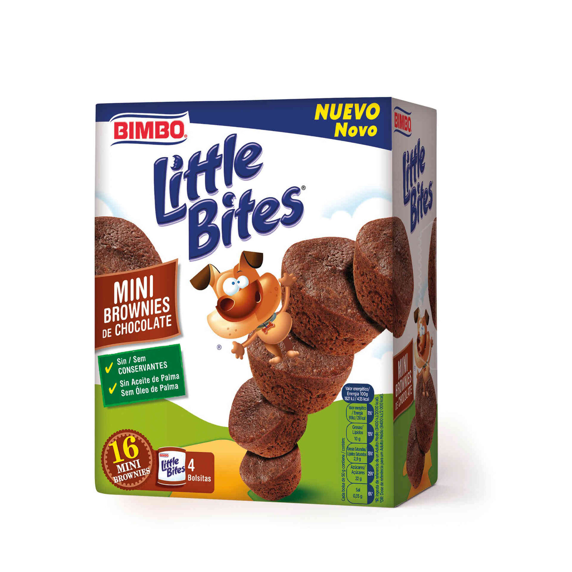 Mini Brownies de Chocolate Little Bites