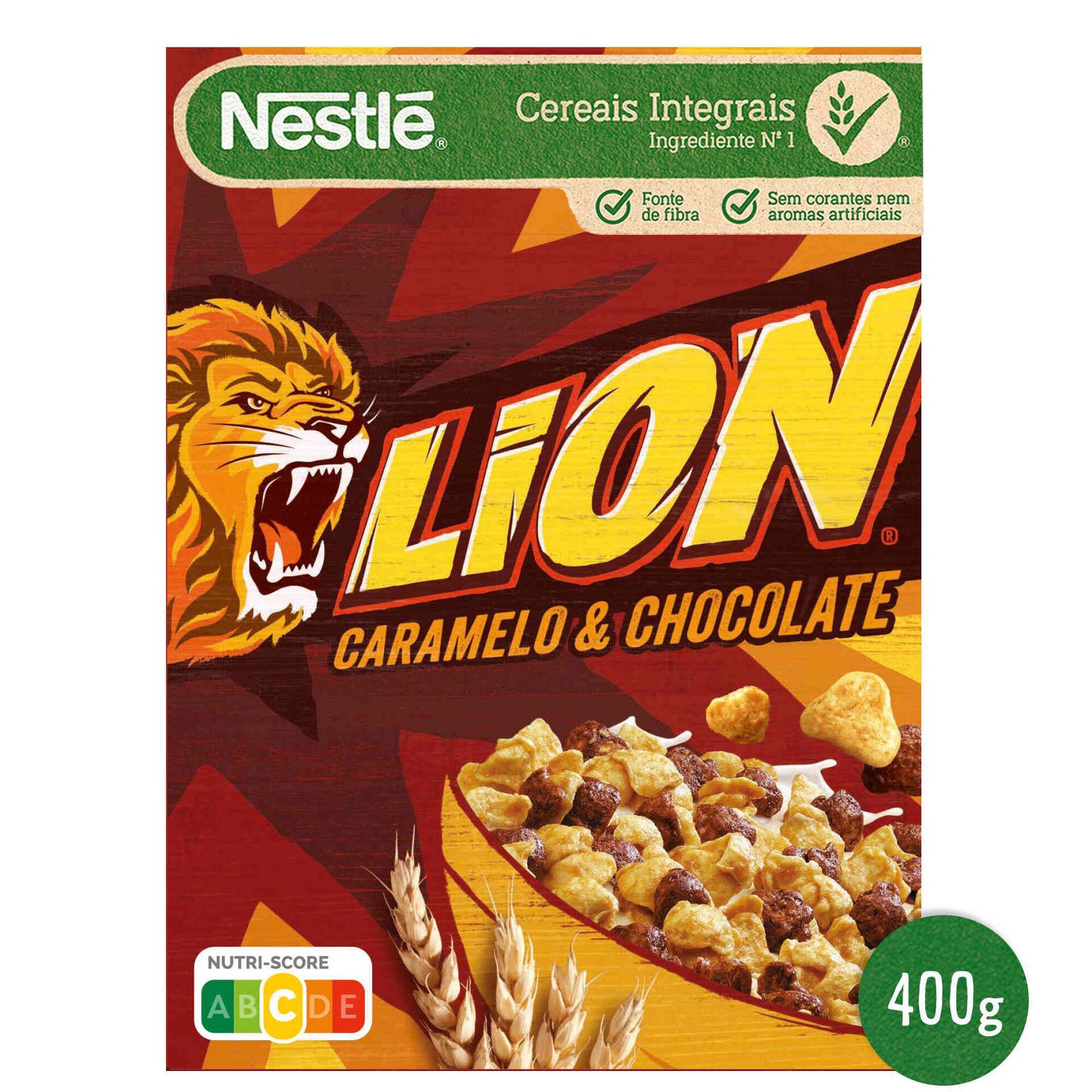 Cereais Lion Caramelo e Chocolate