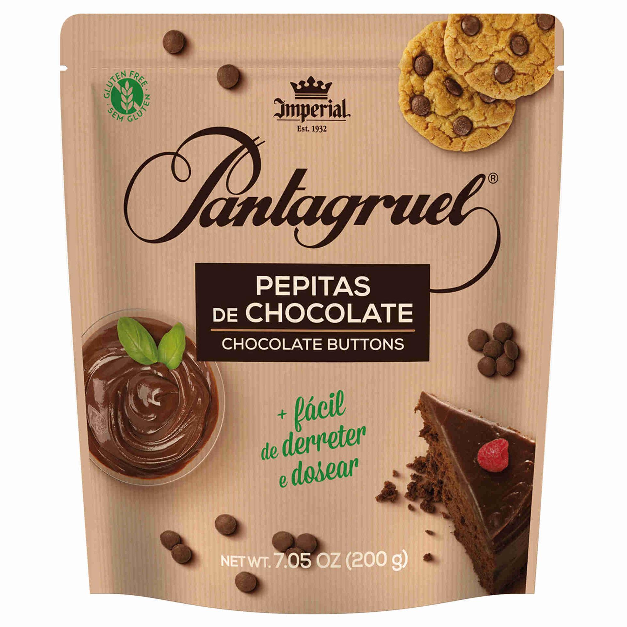 Pepitas de Chocolate 43% Cacau sem Glúten