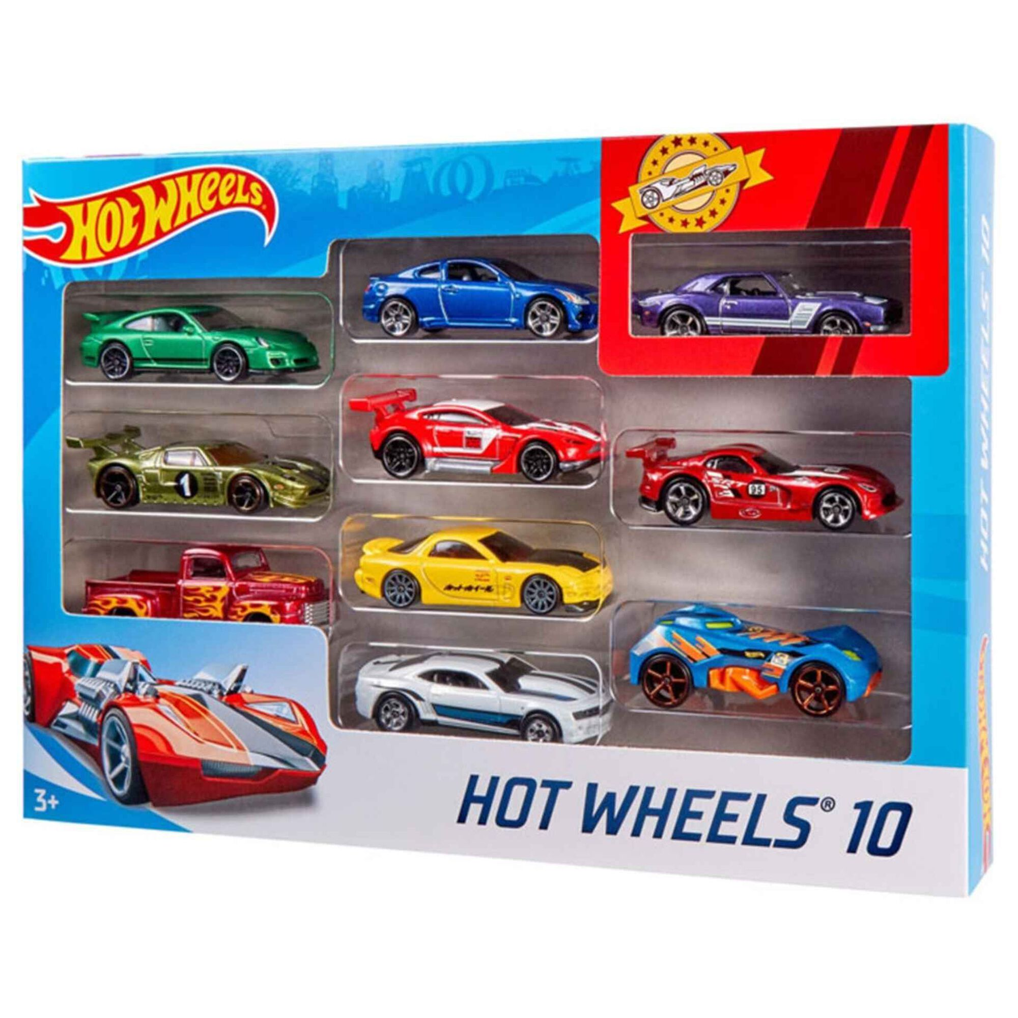 Pack 10 Veículos Hot Wheels (vários modelos)
