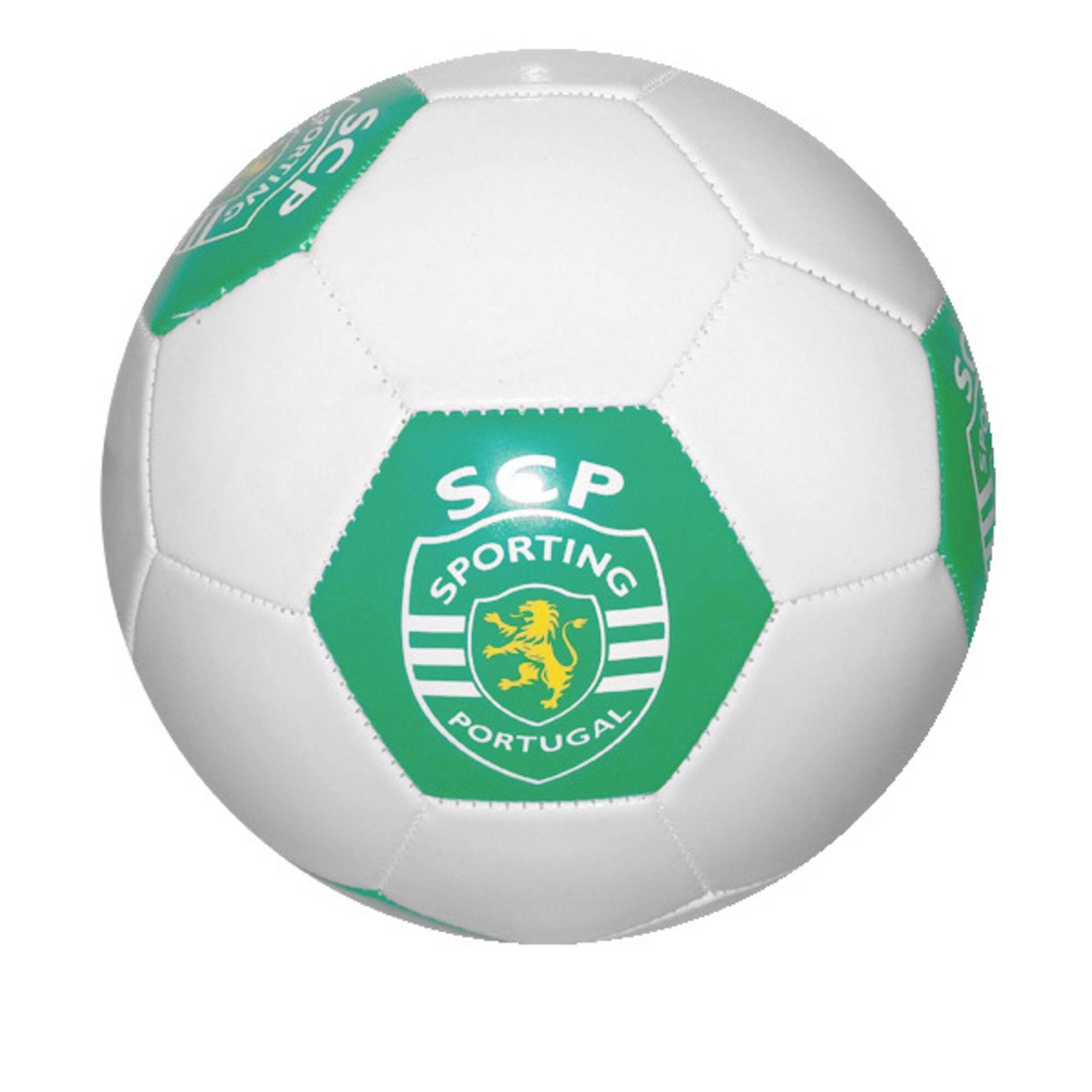 Bola Futebol Oficial SCP 22cm Verde e Branca