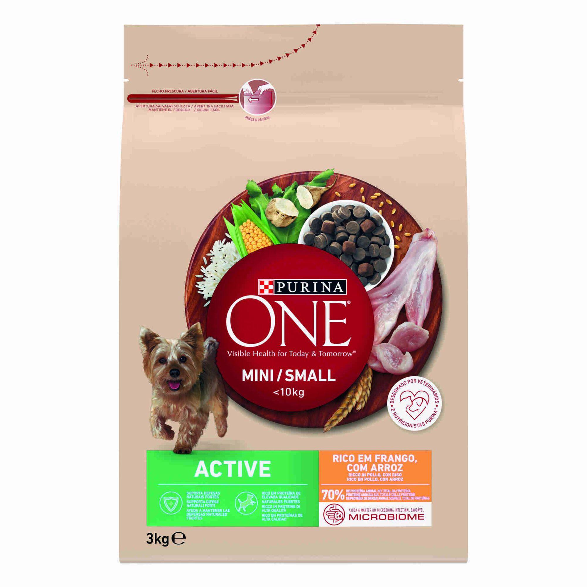 Ração para Cão Mini Active Frango e Arroz