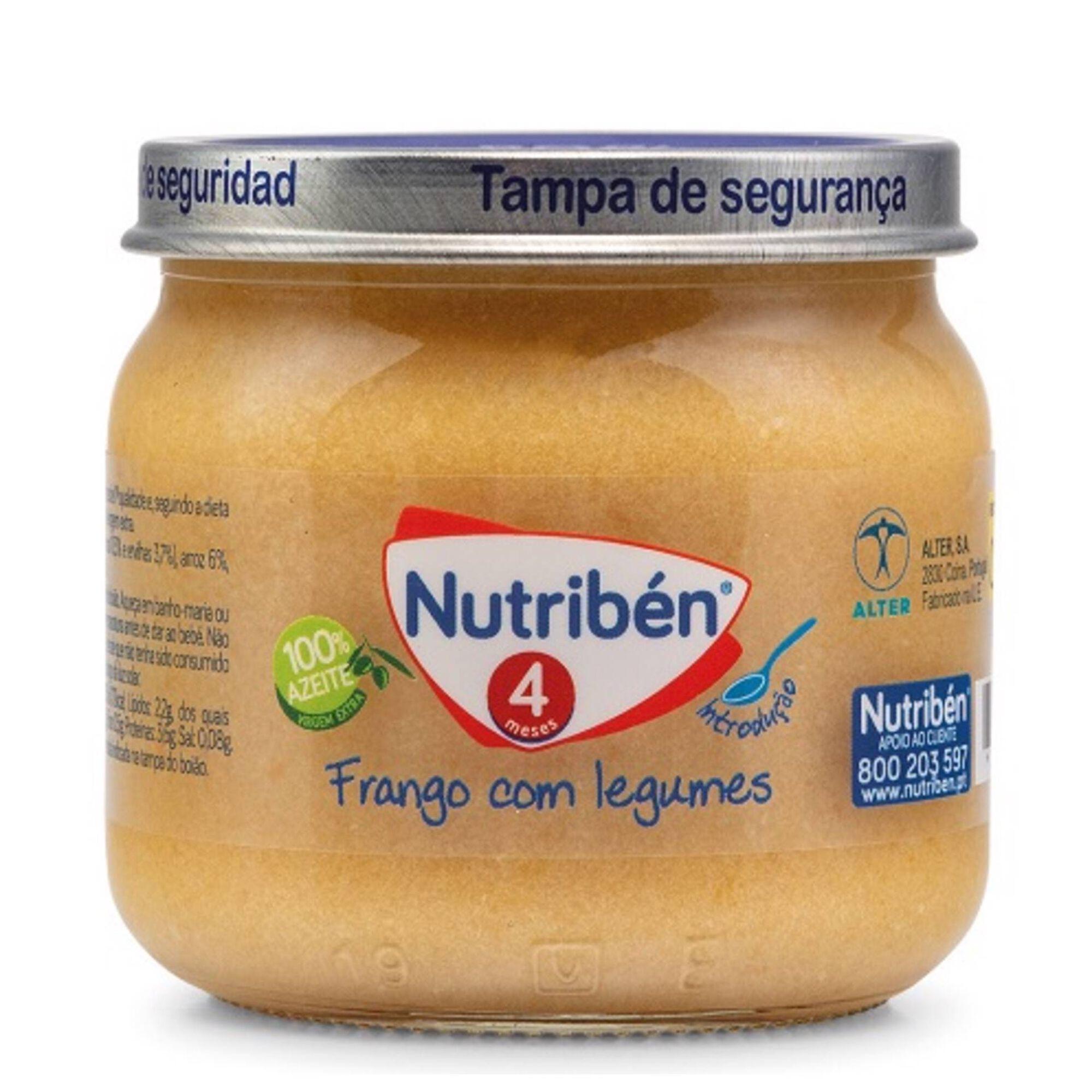 Refeição para Bebé Frango com Legumes sem Glúten +4 Meses