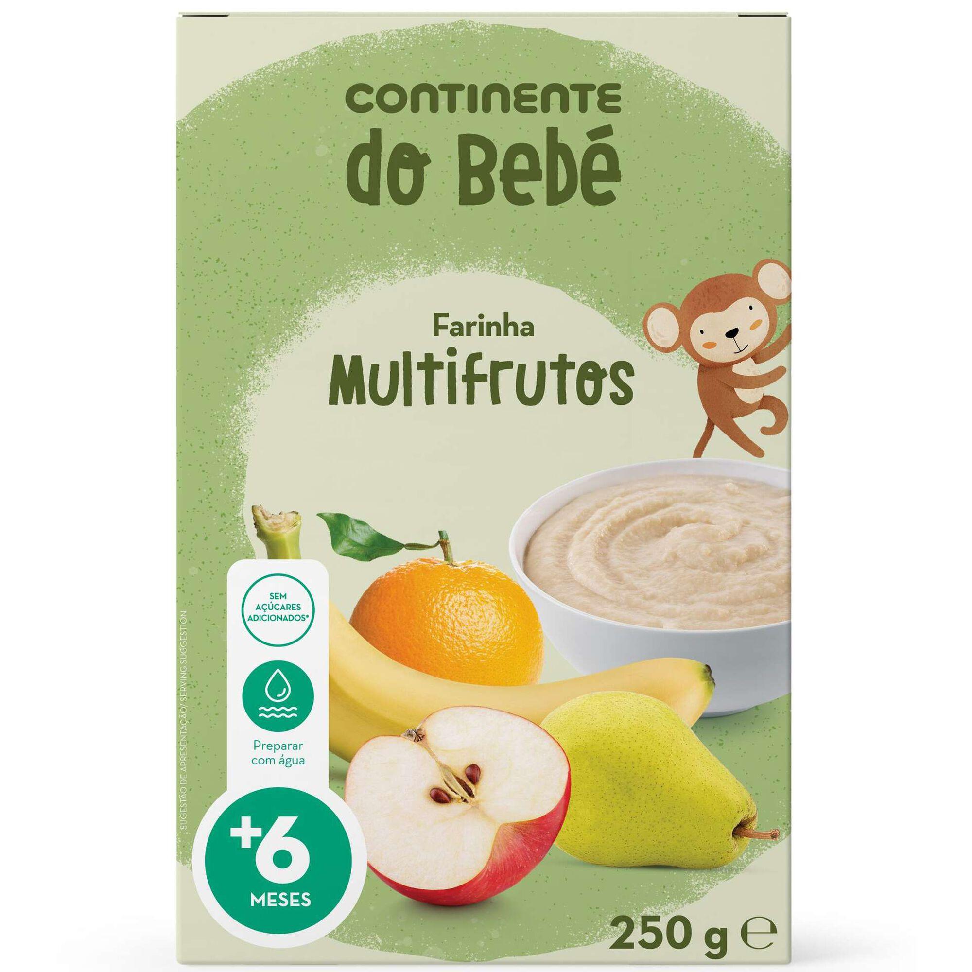 Papa Infantil Farinha Láctea Multifrutos +6 Meses