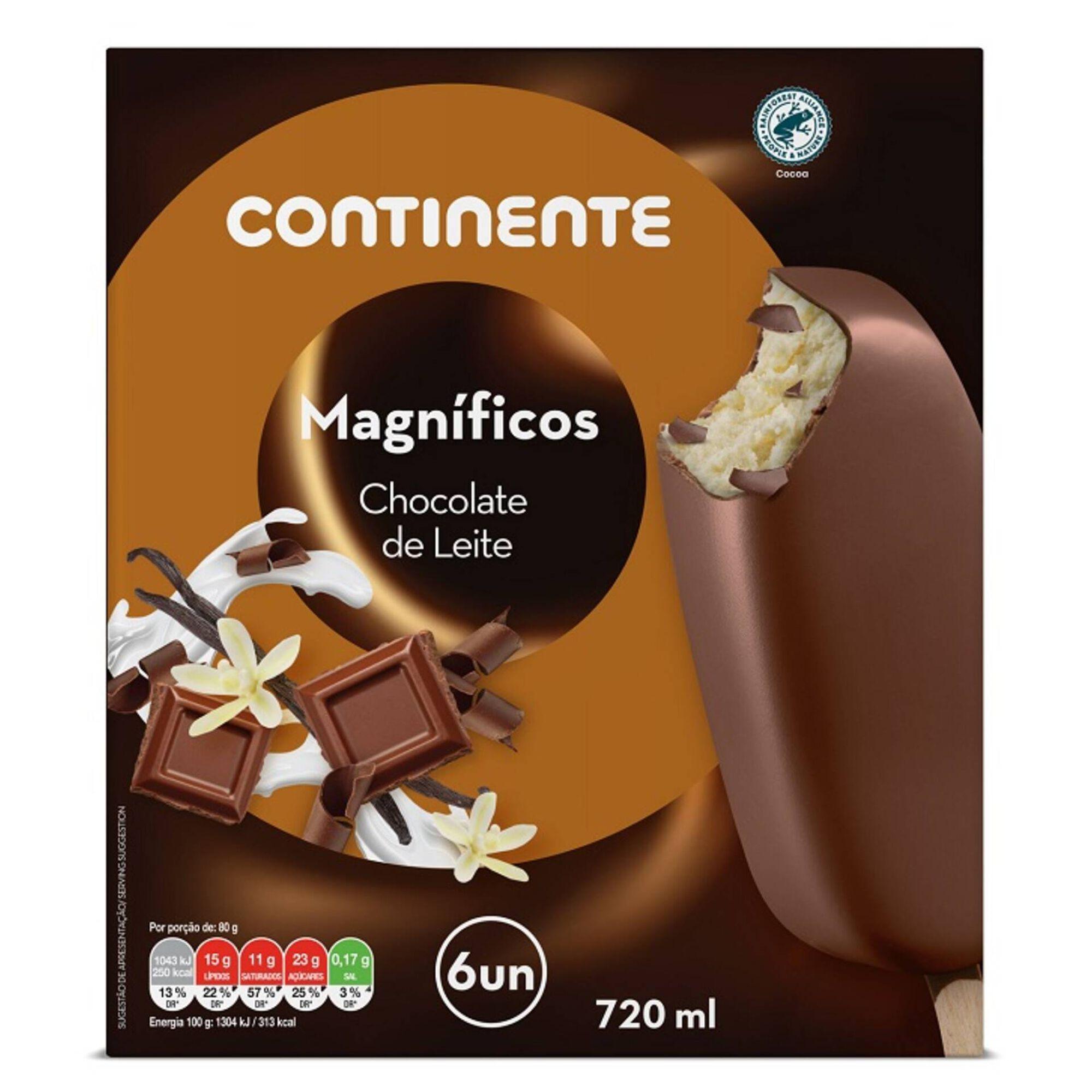 Gelado Magnífico Chocolate de Leite