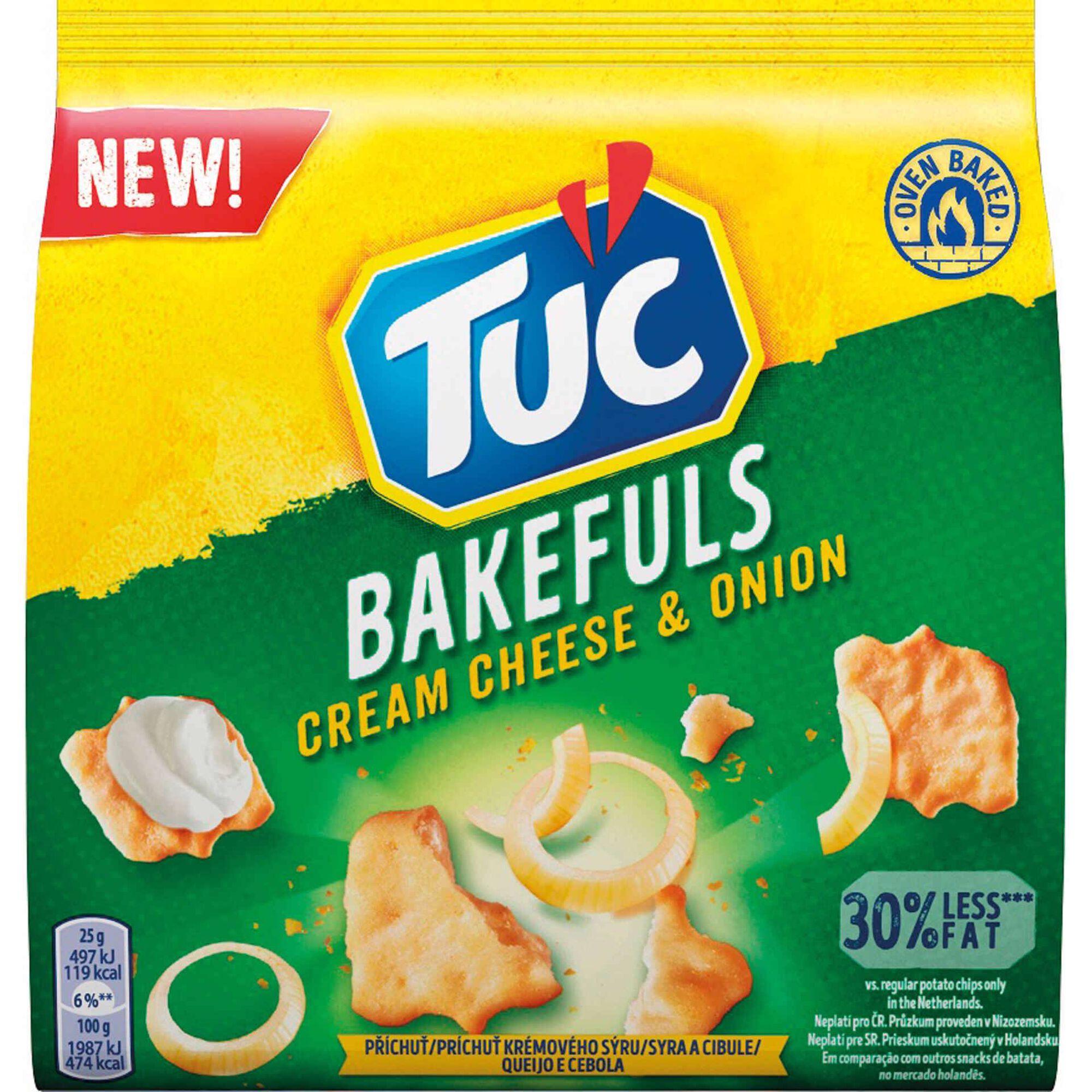 Bolachas Bakeful Cream Cheese & Onion