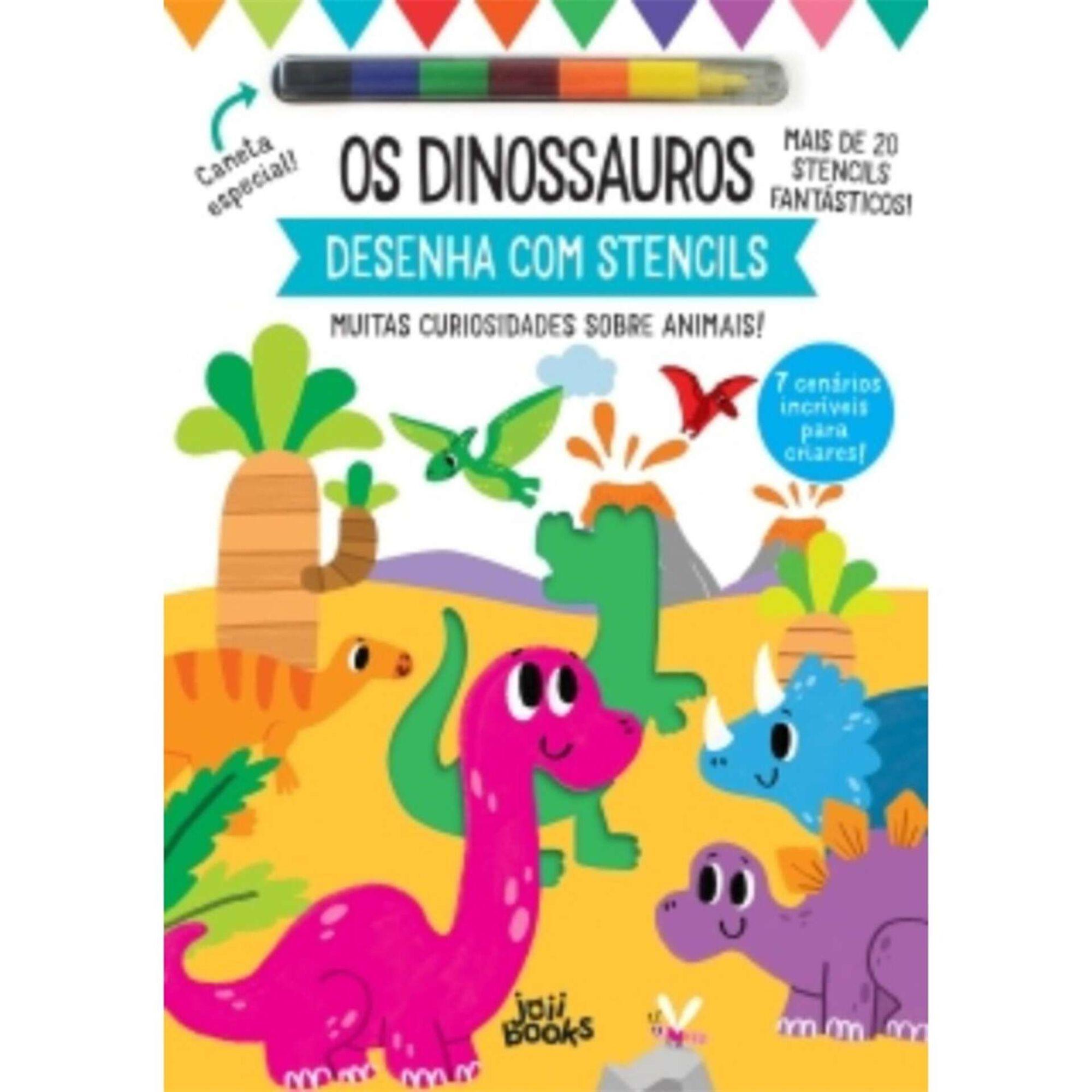 Desenha com Stencils - Os Dinossauros