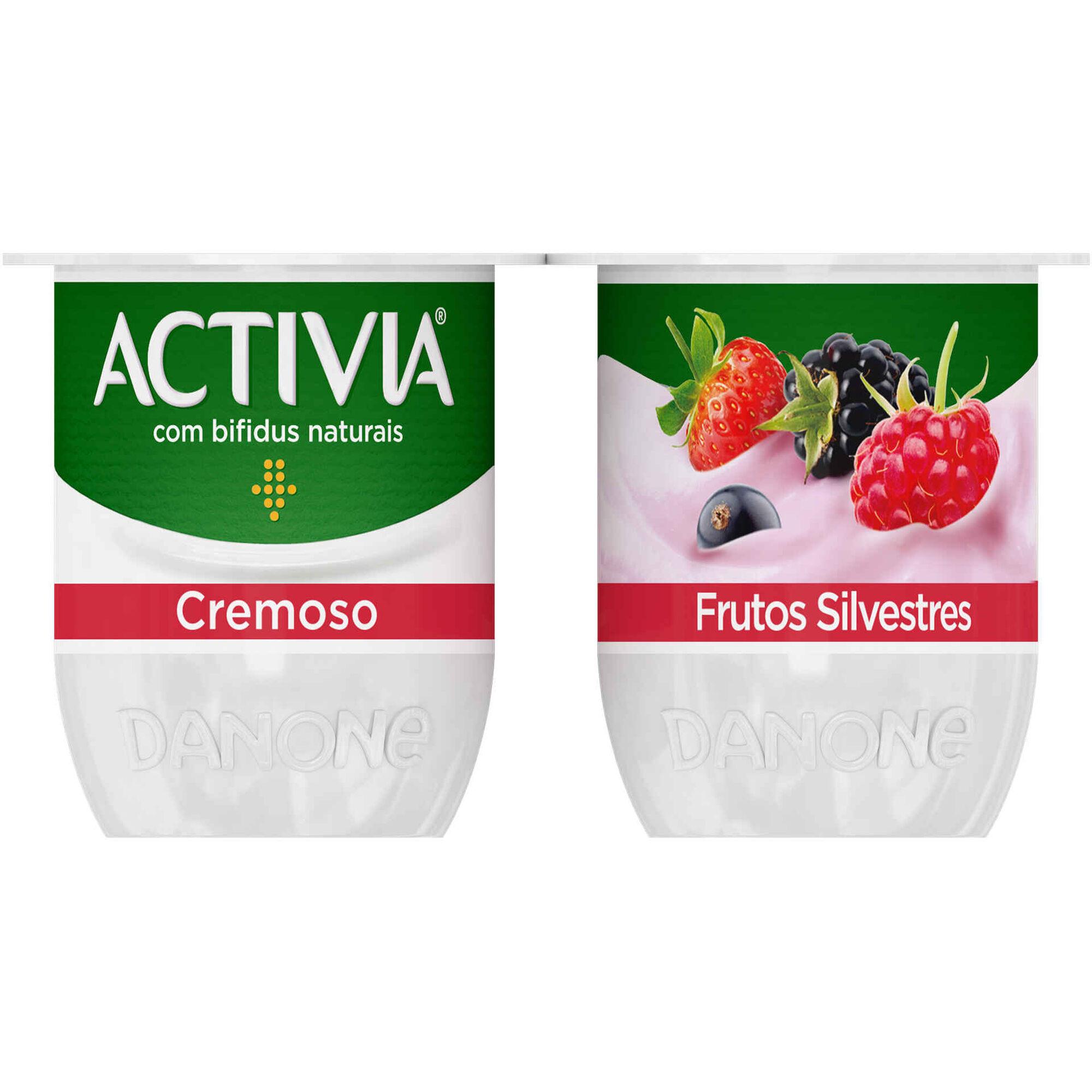Iogurte Bifidus Cremoso Probióticos Frutos Silvestres Activia