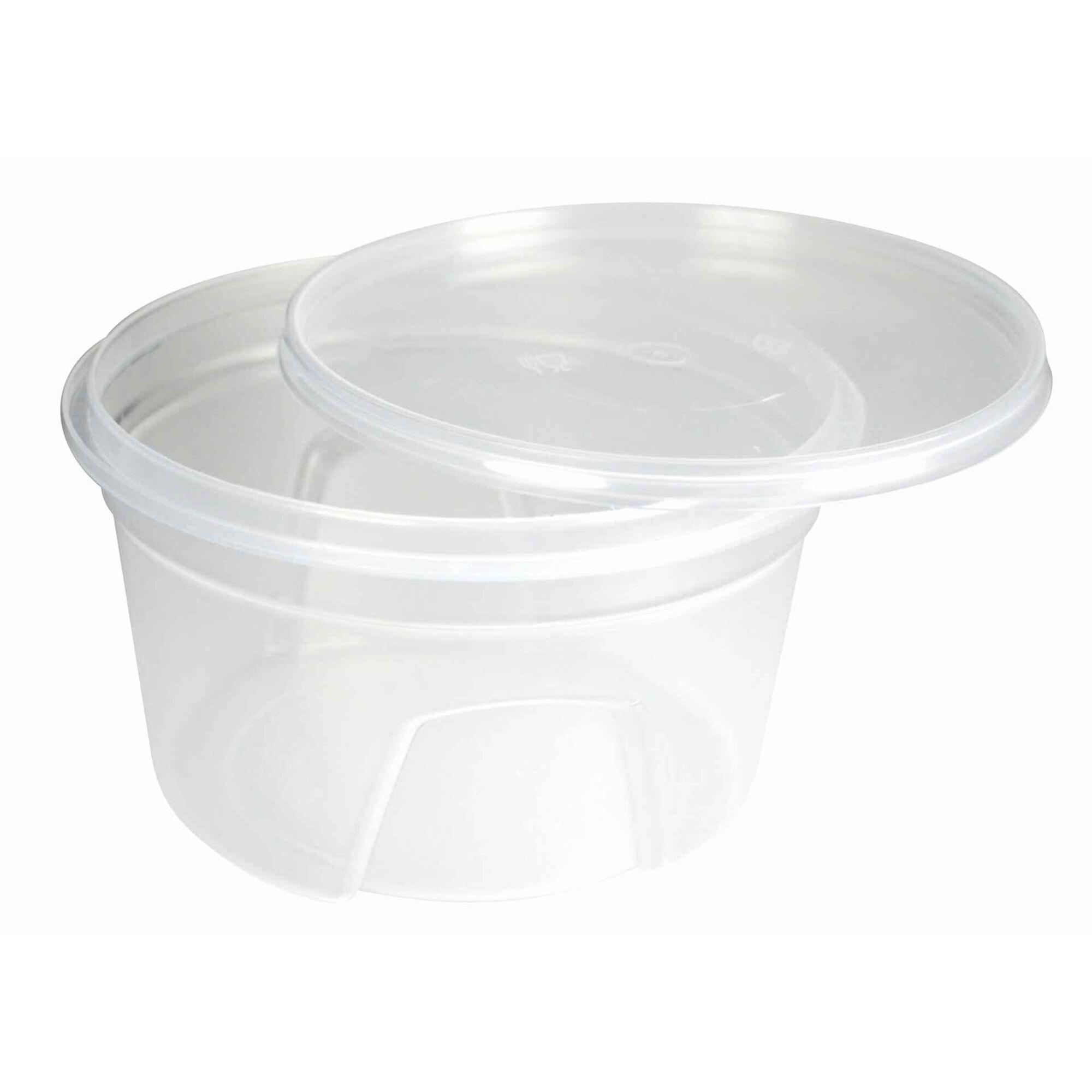 Taça Sopa Plástico com Tampa Transparente