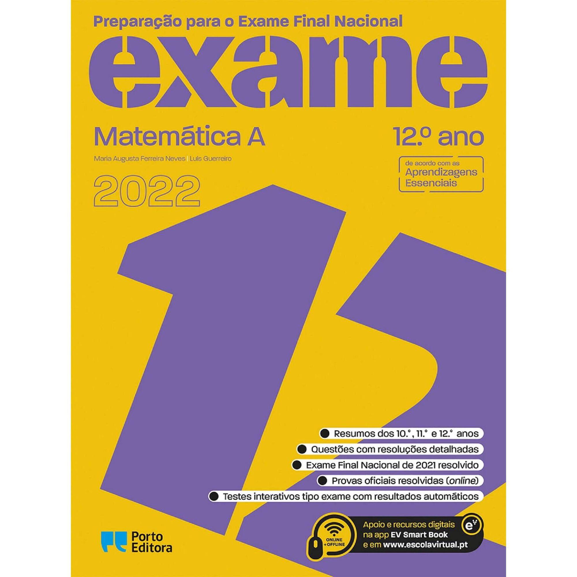 Preparação para o Exame Nacional - Matemática A - 12º Ano