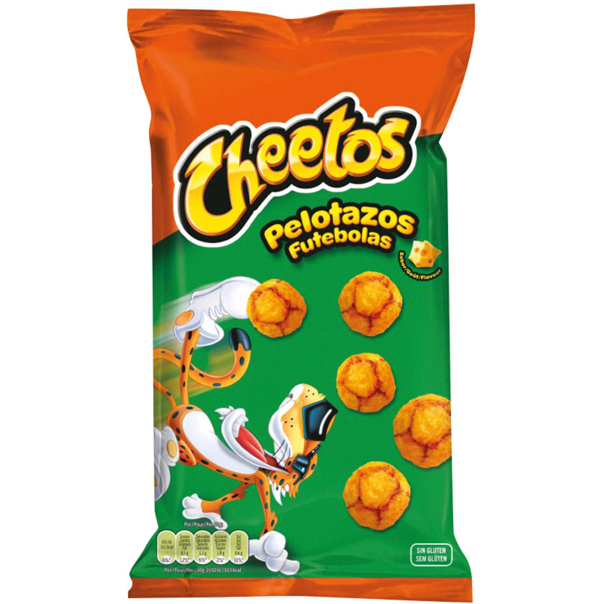 Snacks Milho Futebolas Sabor Queijo