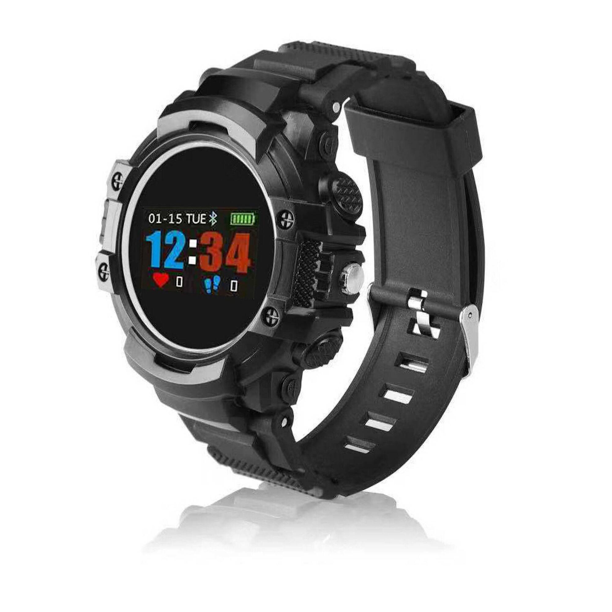 Smartwatch HR com Desenho Militar Preto
