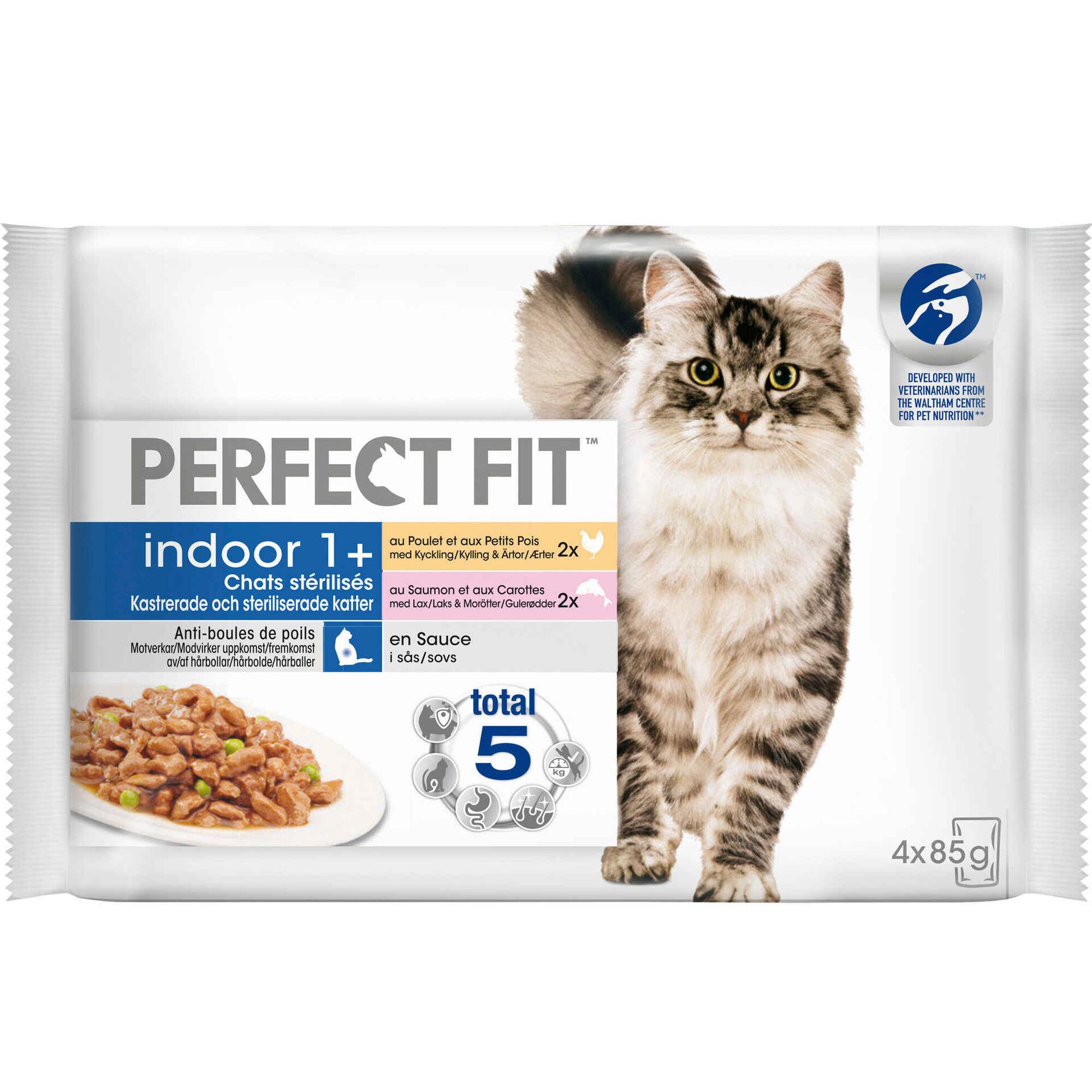 Comida Húmida para Gato Esterilizado Indoor Frango e Salmão Saquetas