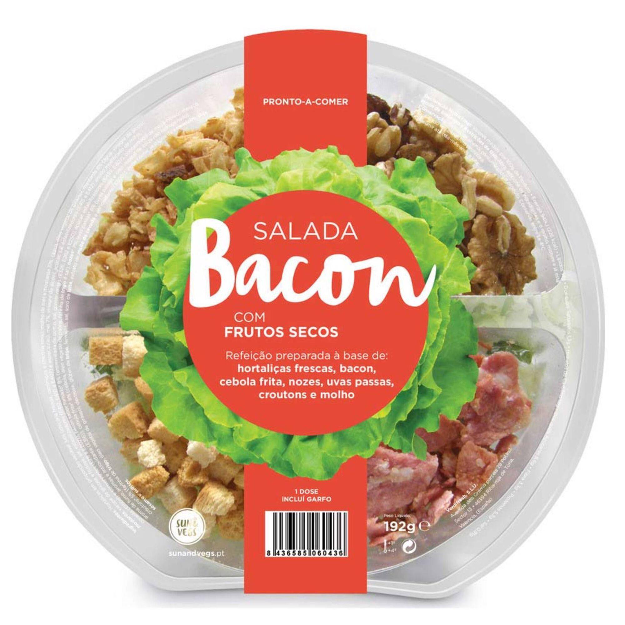 Salada de Bacon com Frutos Secos
