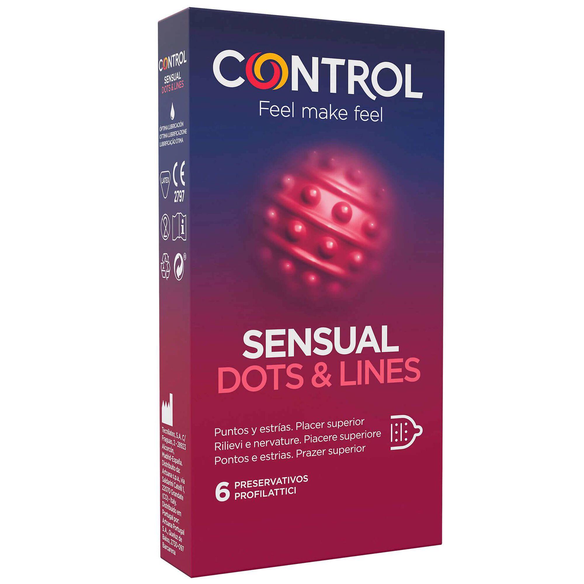 Preservativos Sensual Dots & Lines