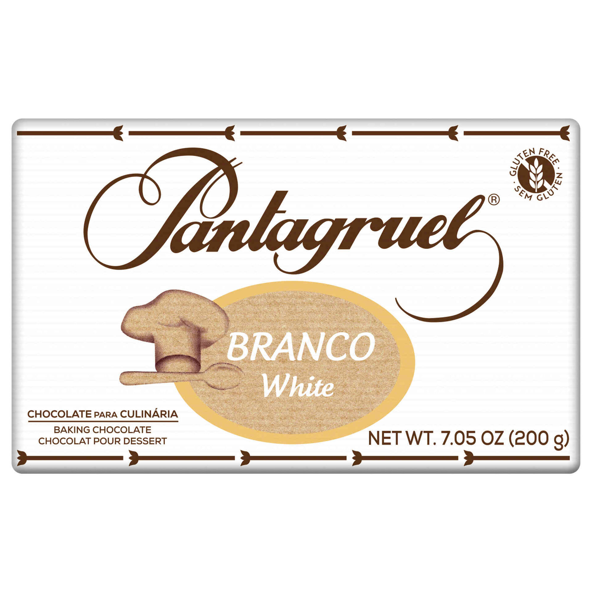 Tablete de Chocolate Branco Culinária sem Glúten