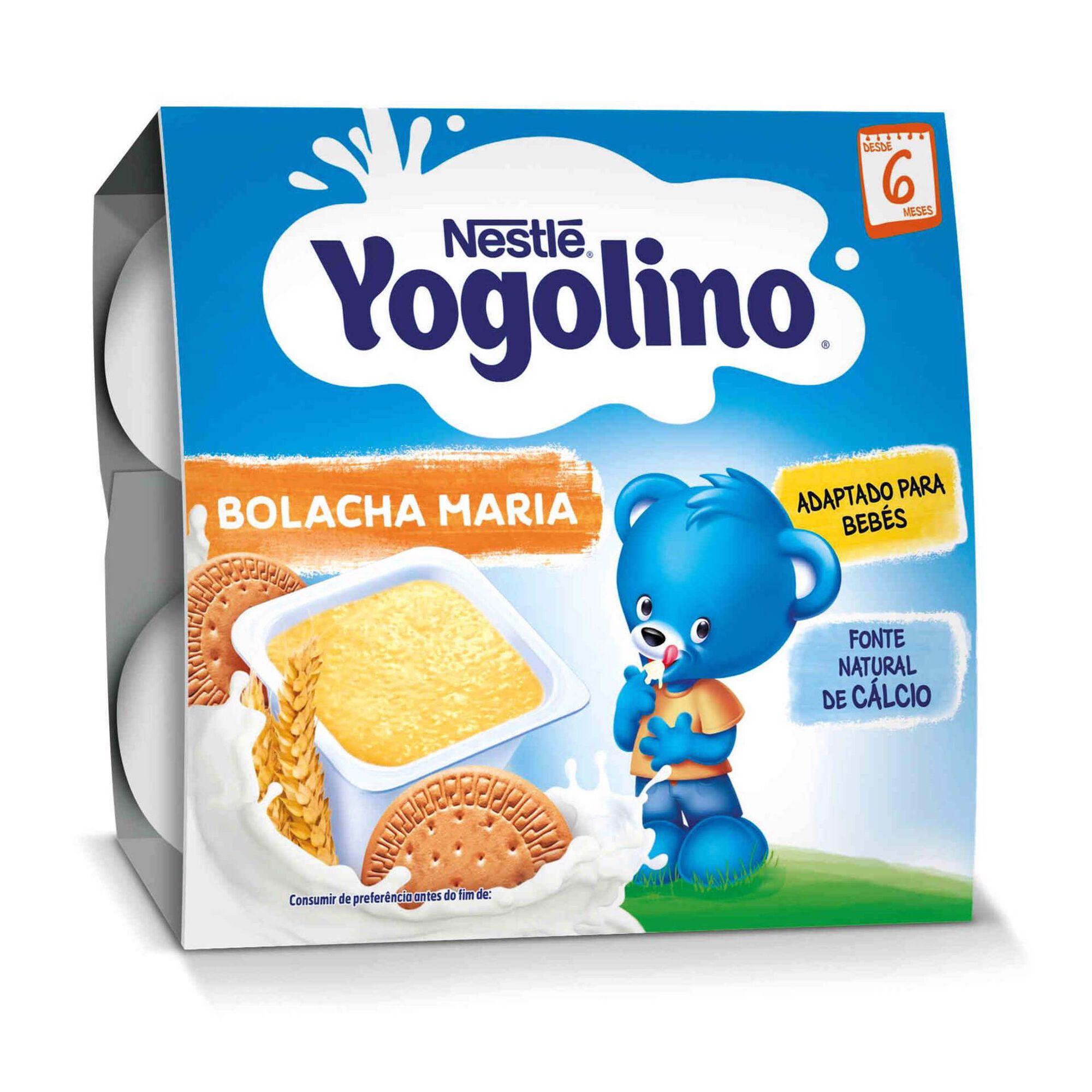 Alimento Lácteo de Cereais e Bolacha Maria Yogolino +6 Meses