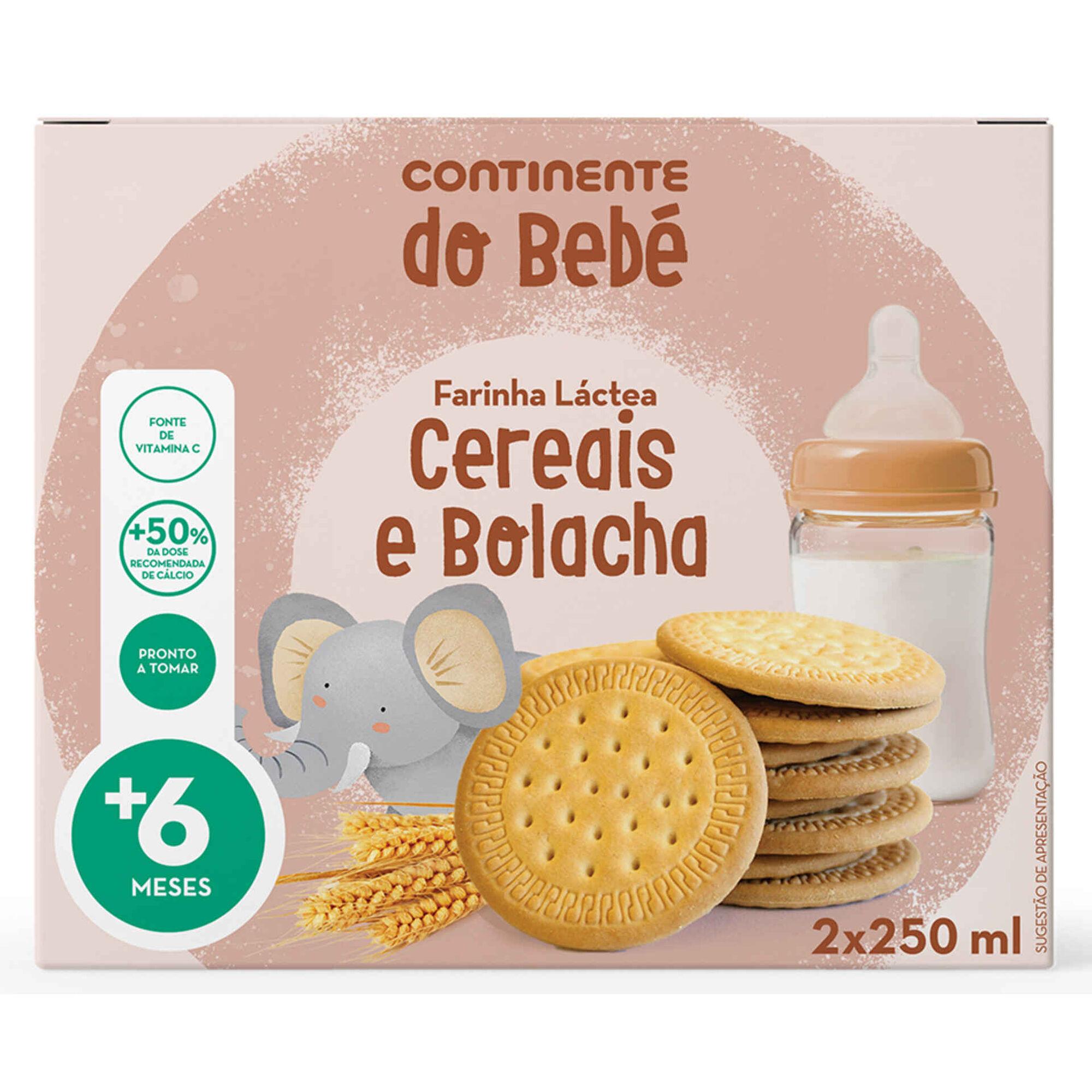 Papa Infantil Farinha Láctea Cereais e Bolacha +6 Meses