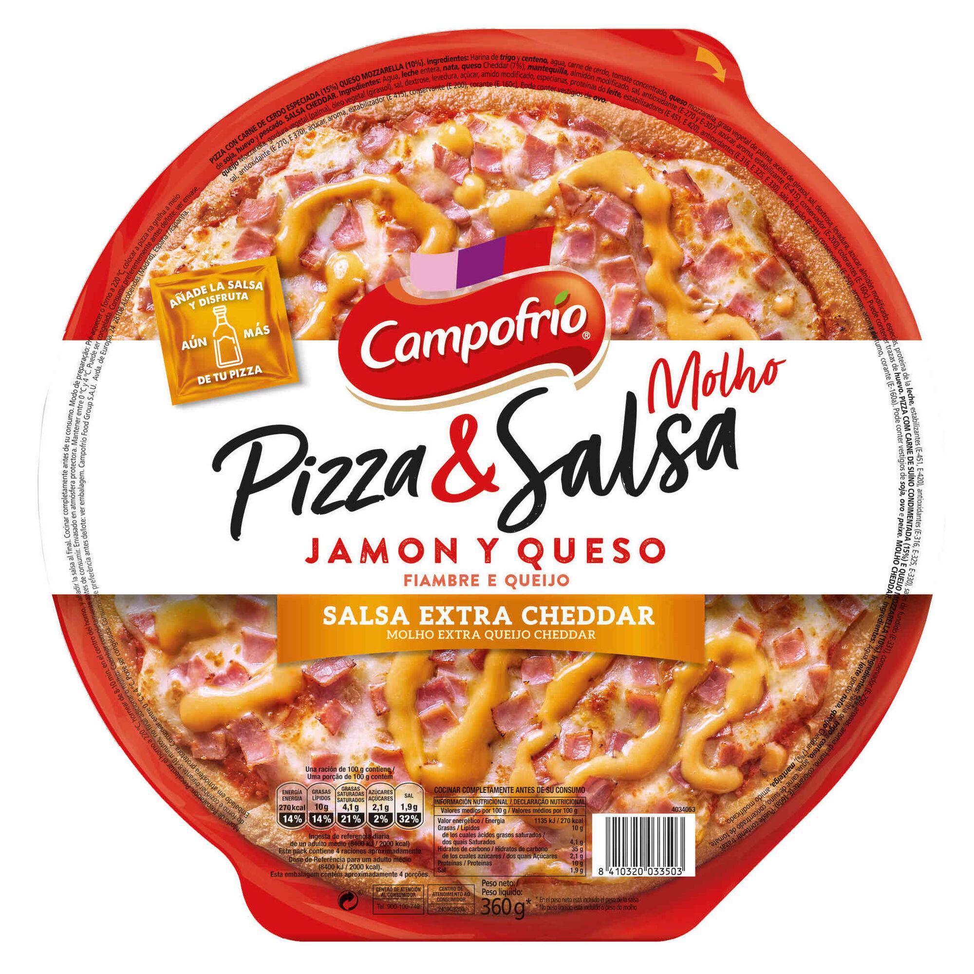 Pizza Fresca de Fiambre e Queijo