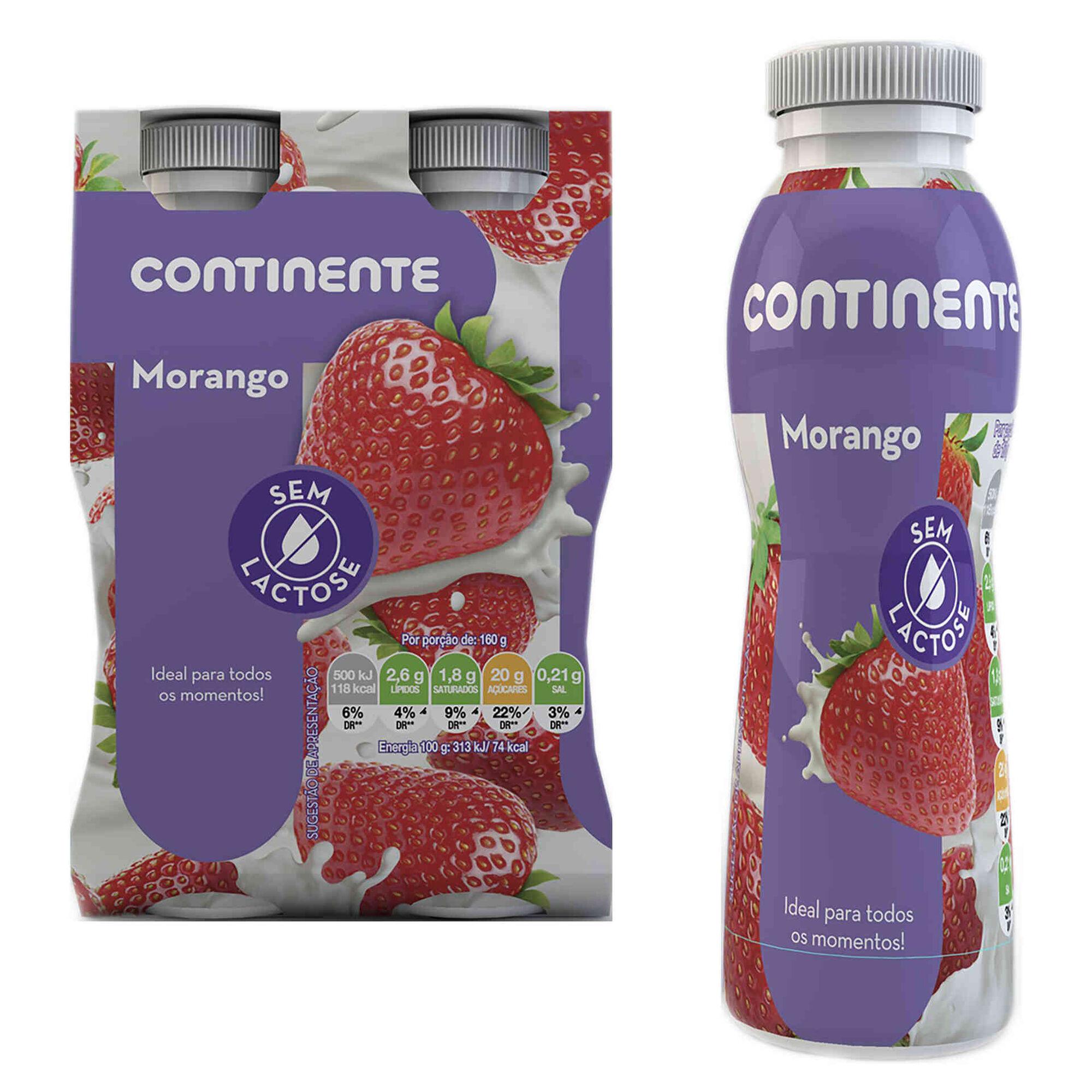 Iogurte Líquido Morango sem Lactose