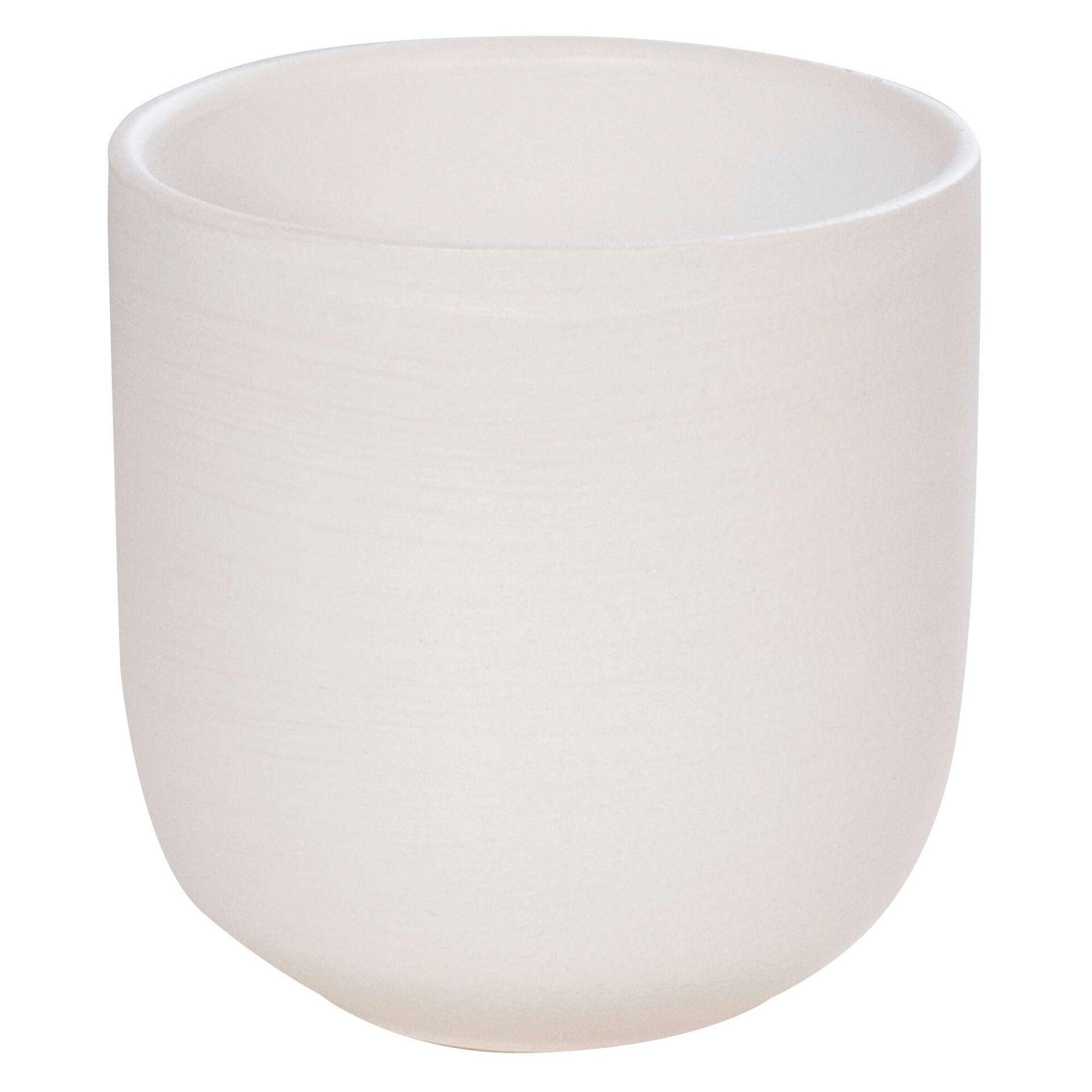 Vaso Redondo Faiança 23cm Branco