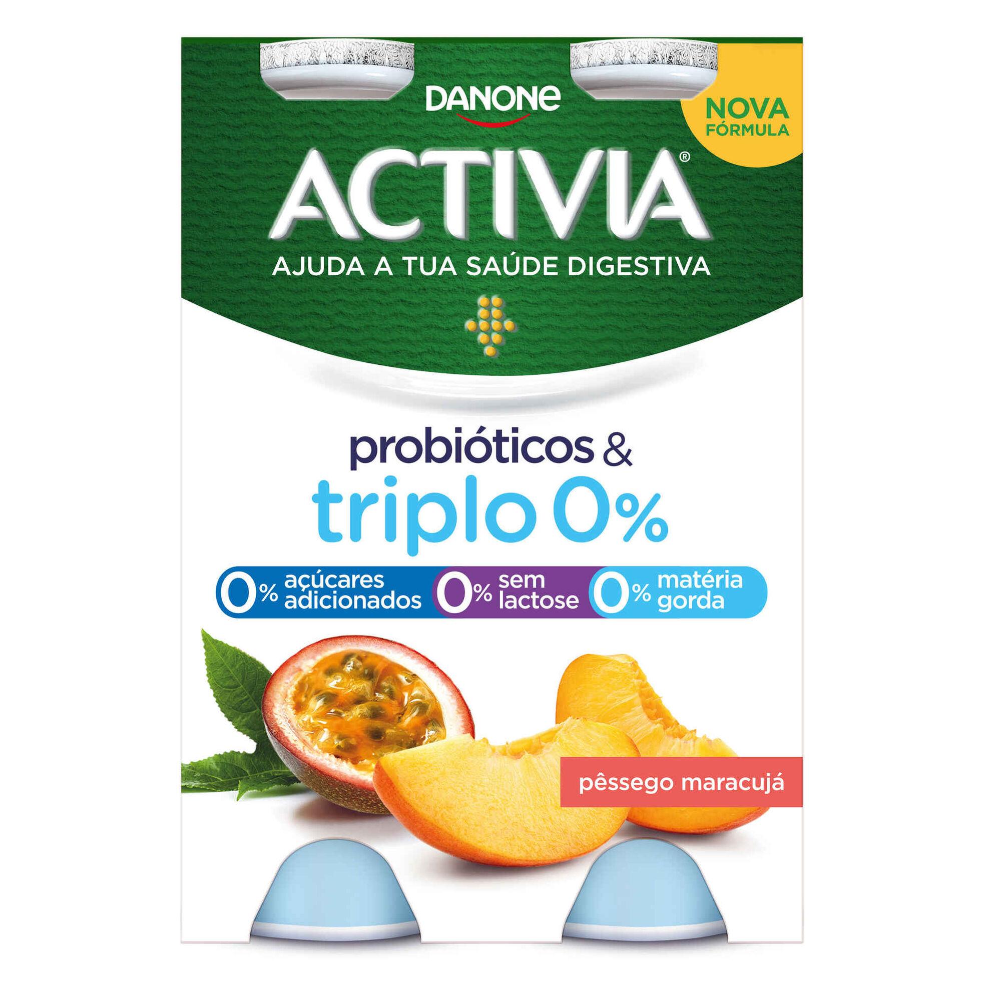 Iogurte Líquido Bifidus Magro Probióticos Pêssego e Maracujá Activia