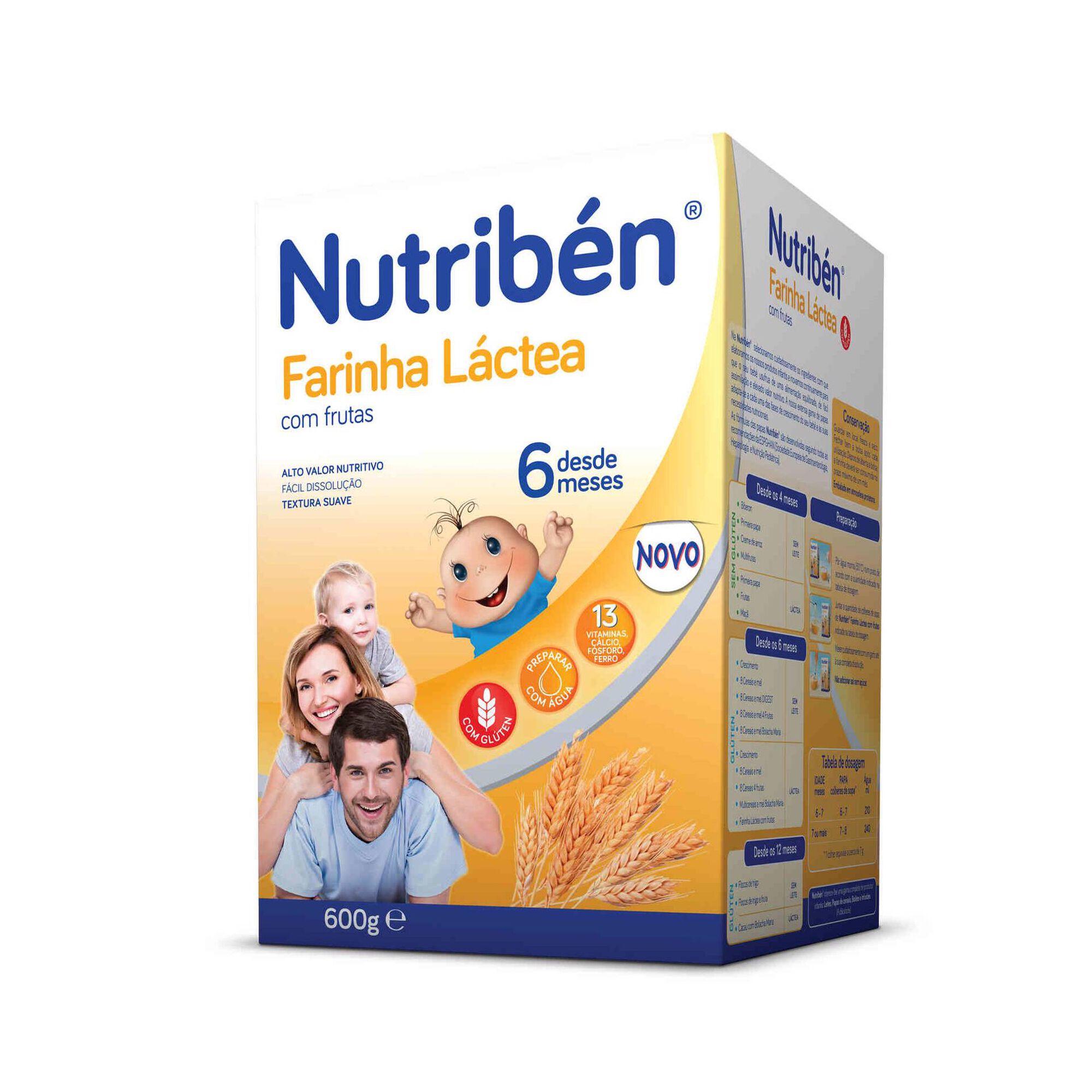 Papa Infantil Farinha Láctea com Frutas +6 Meses