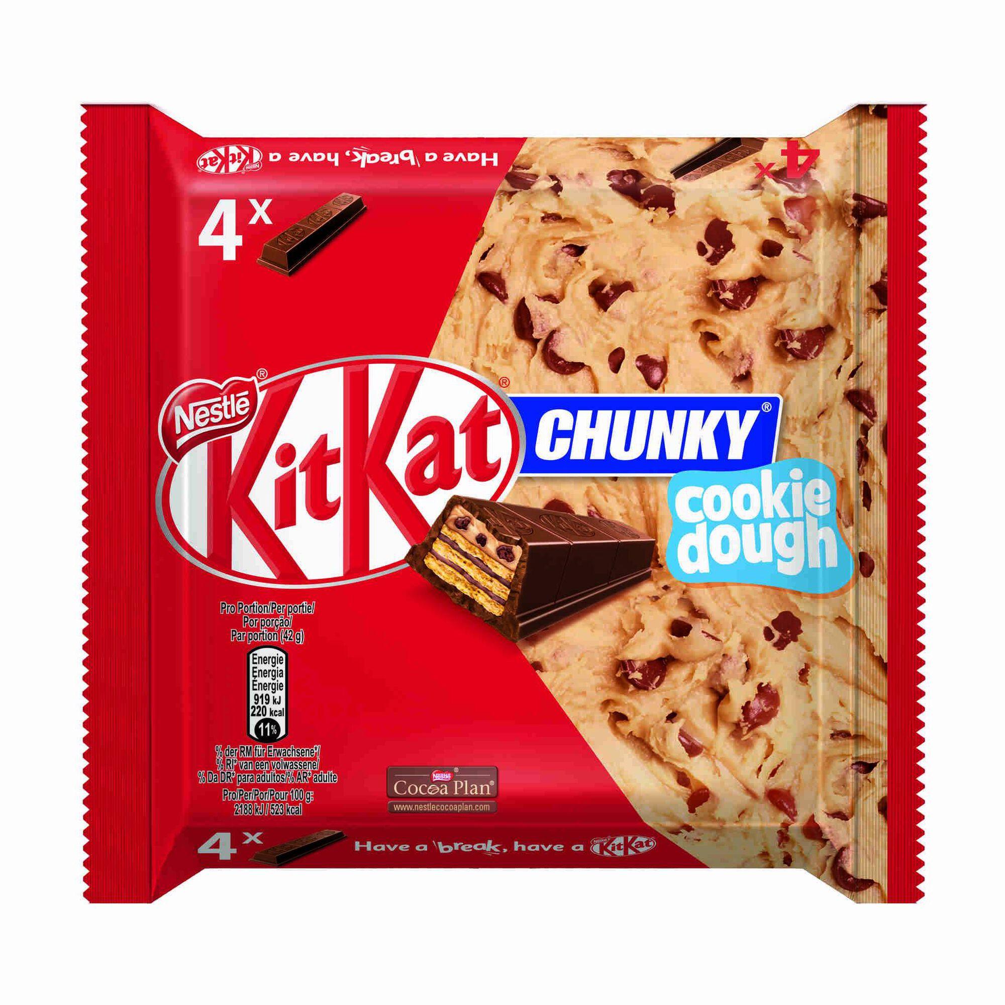 Snack de Chocolate KitKat Chunky Cookie Dough