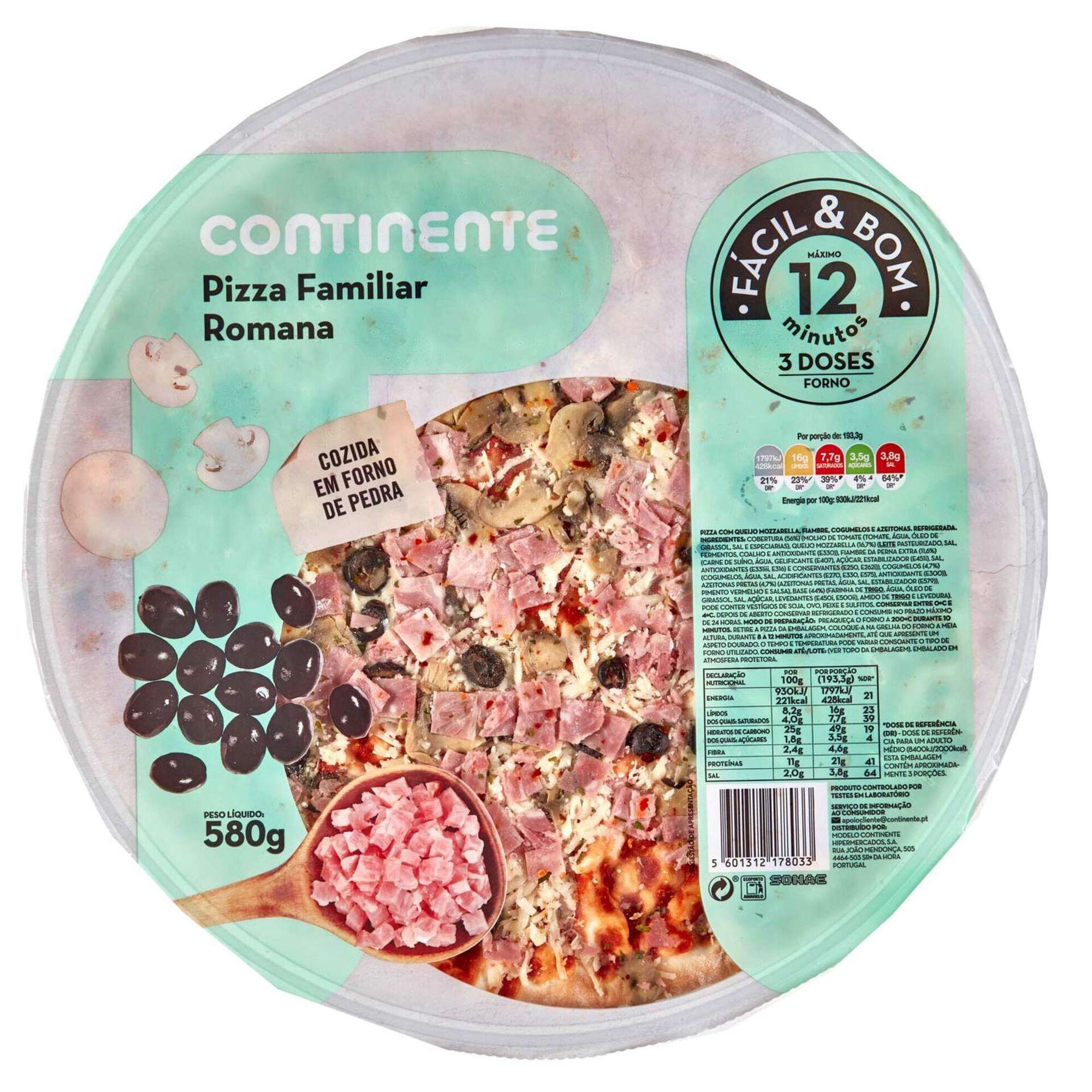 Pizza Fresca Familiar Romana