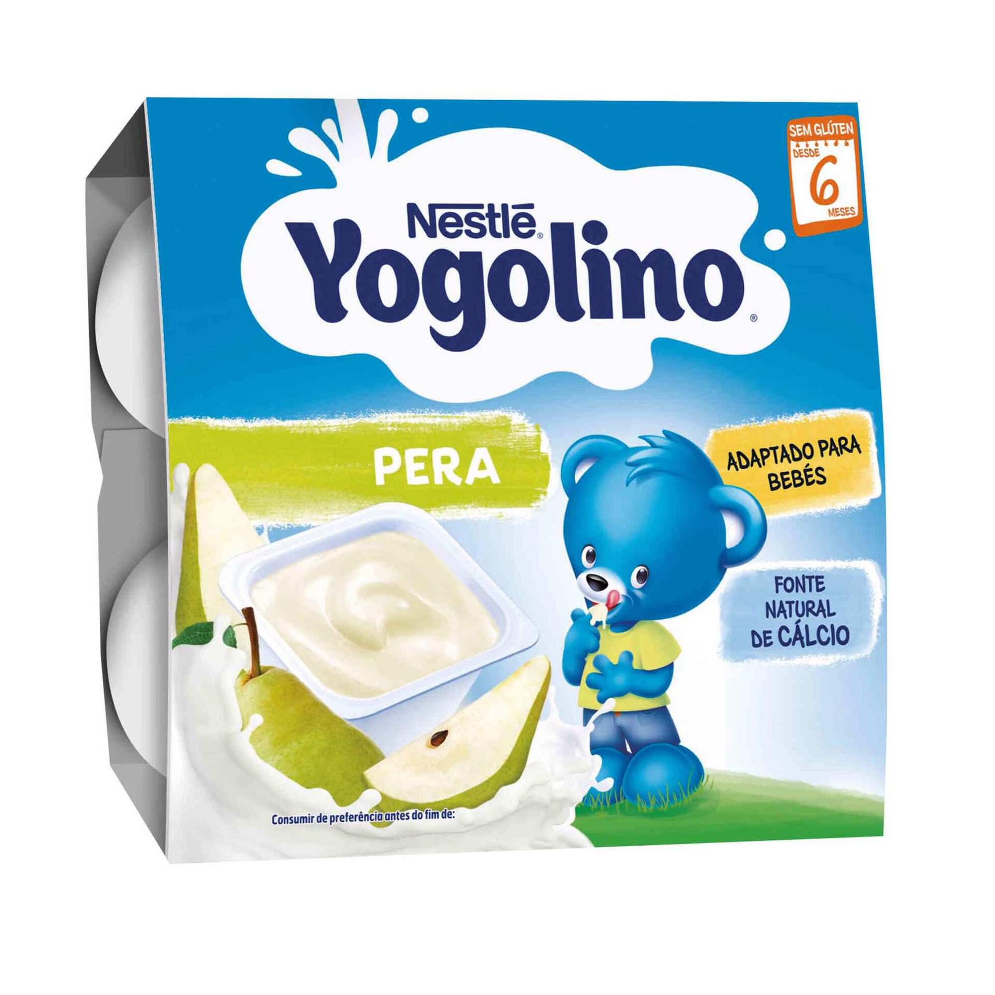 Alimento Lácteo de Pera Yogolino +sem Glúten 6 Meses