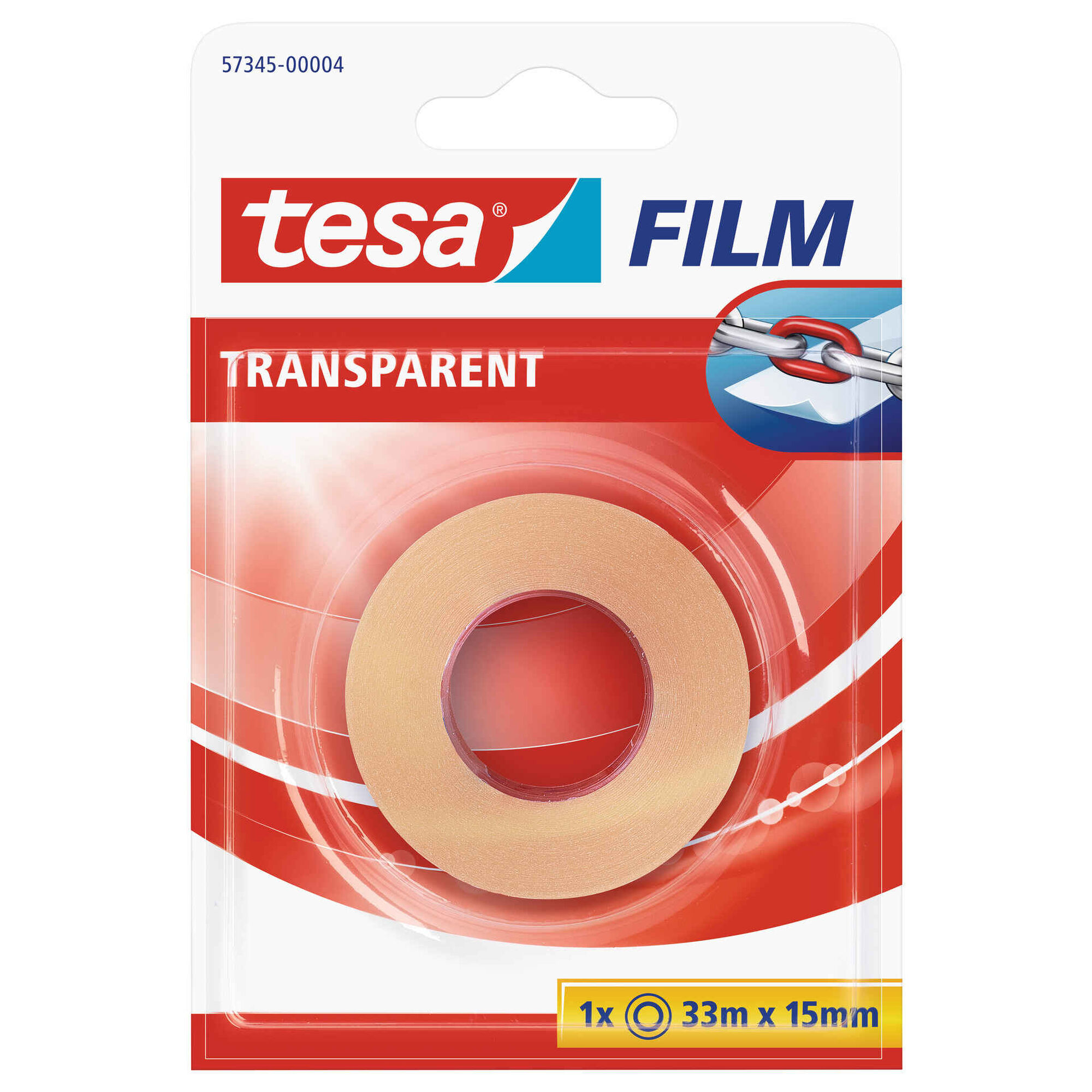 Fita Cola Transparente 33m x 15mm
