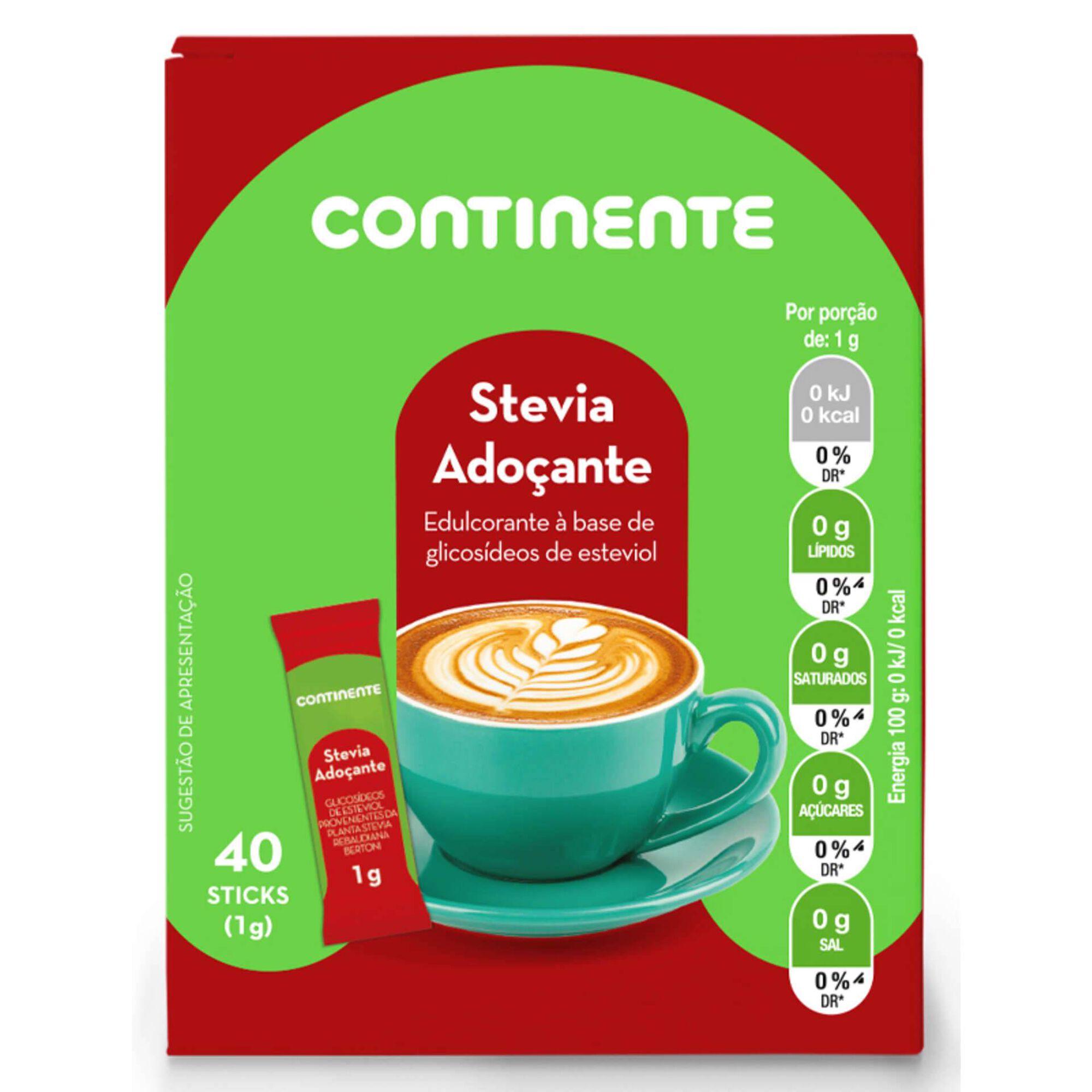 Adoçante Stevia 40 Sticks