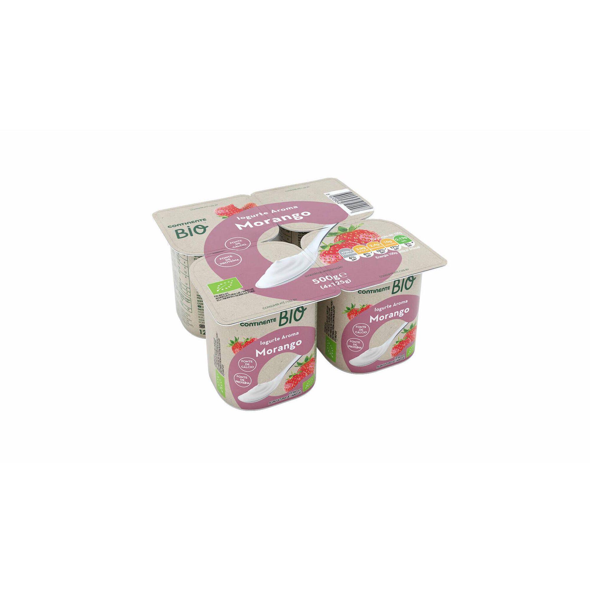 Iogurte Aroma Morango Biológico