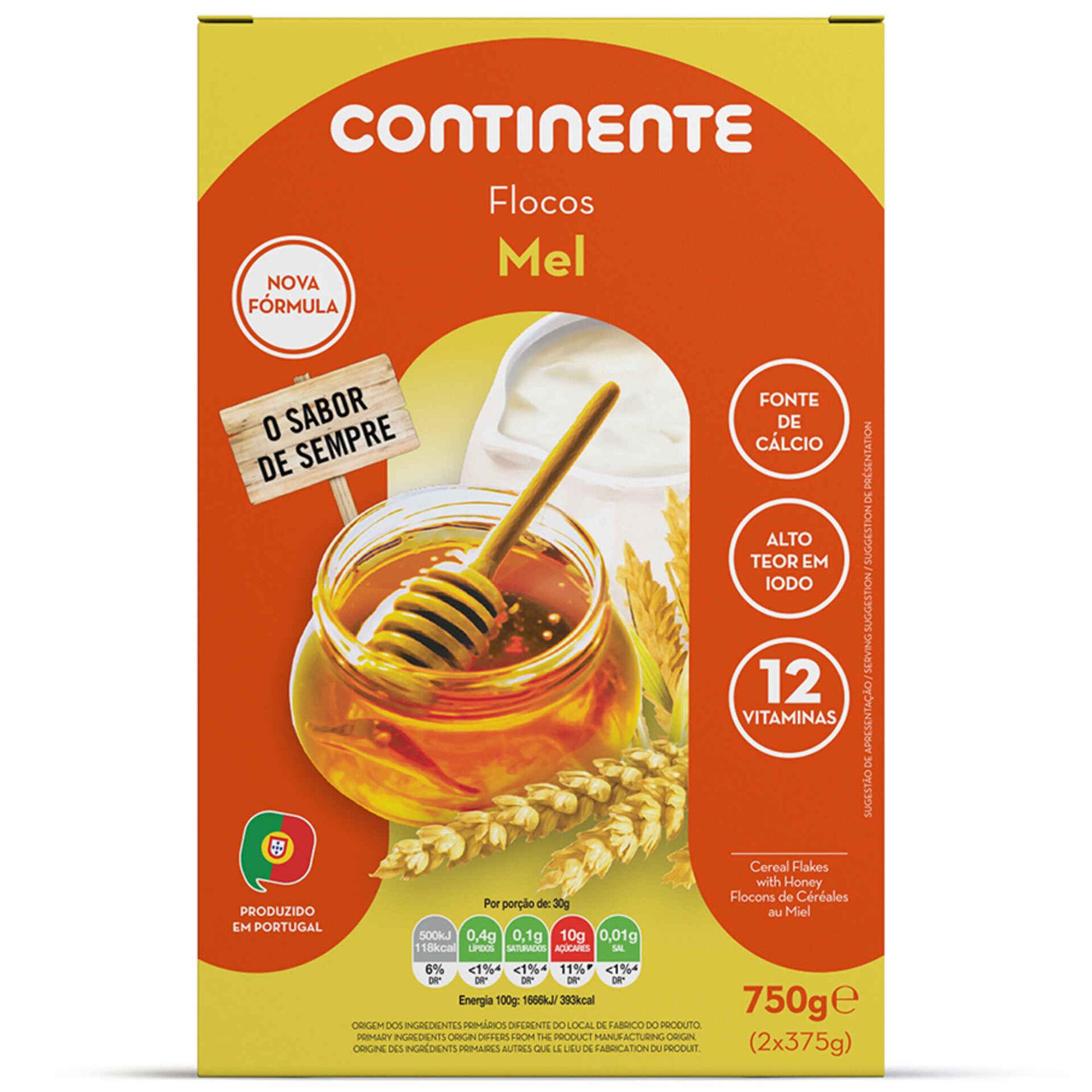 Flocos de Cereais com Mel