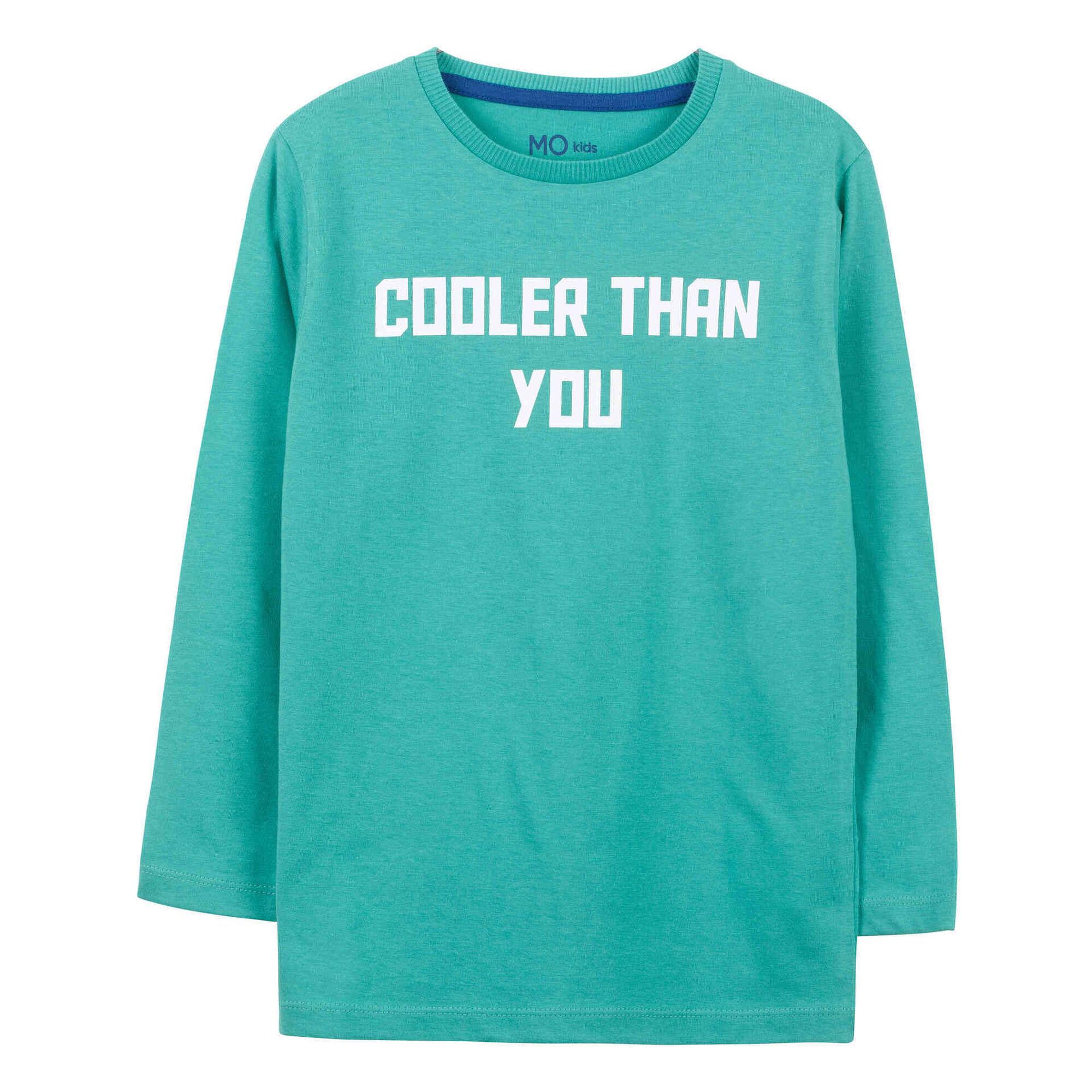 T-shirt Cooler Manga Comprida Algodão Turquesa