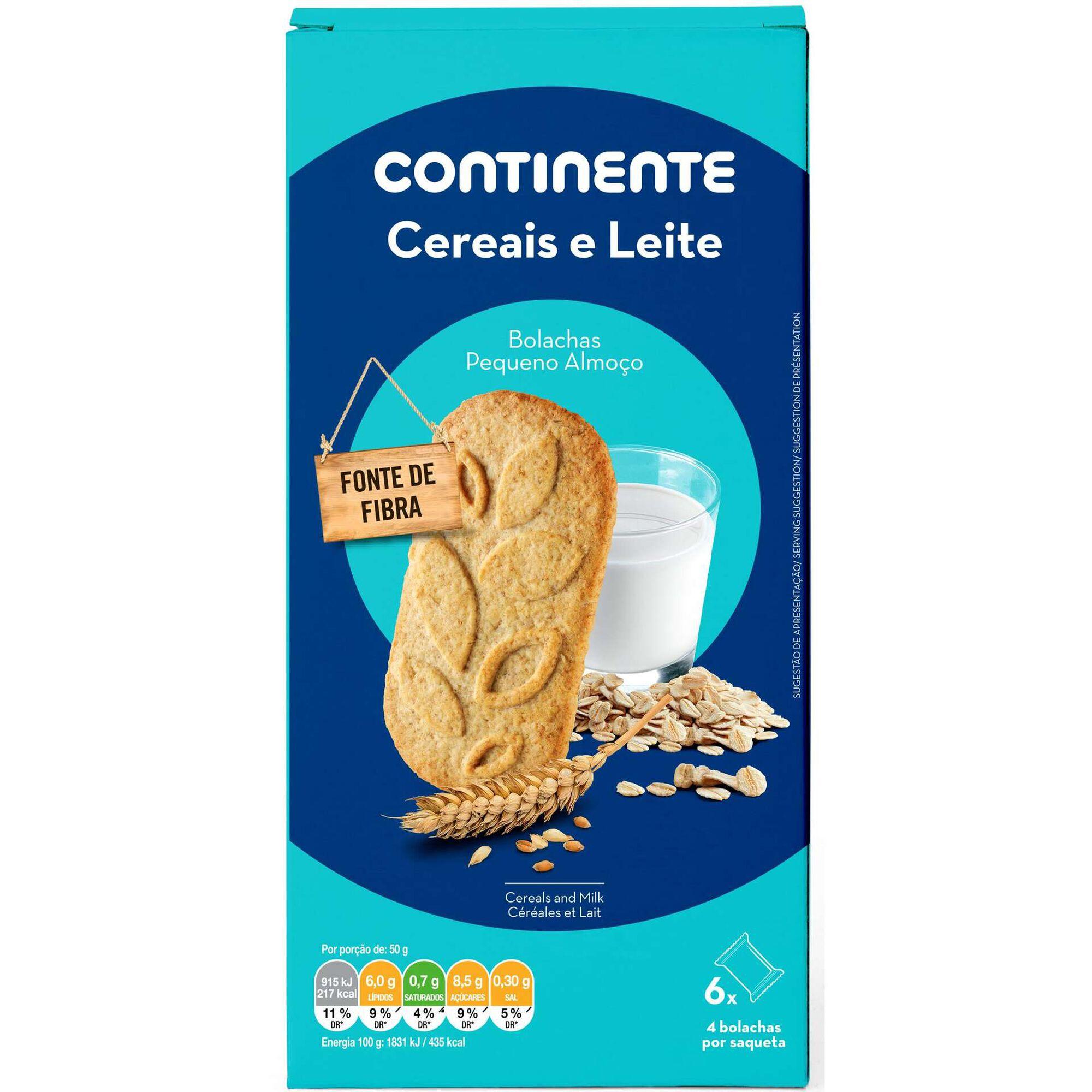 Bolachas Pequeno Almoço Cereais Leite