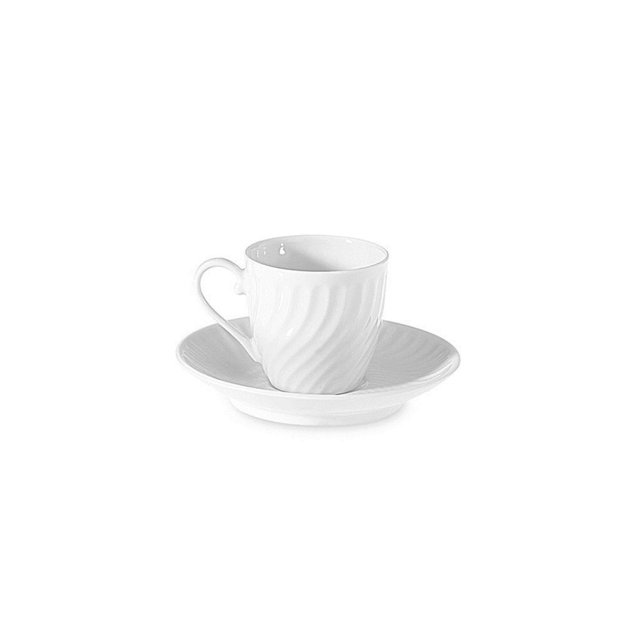 Chávena Café com Pires Branca Sagres