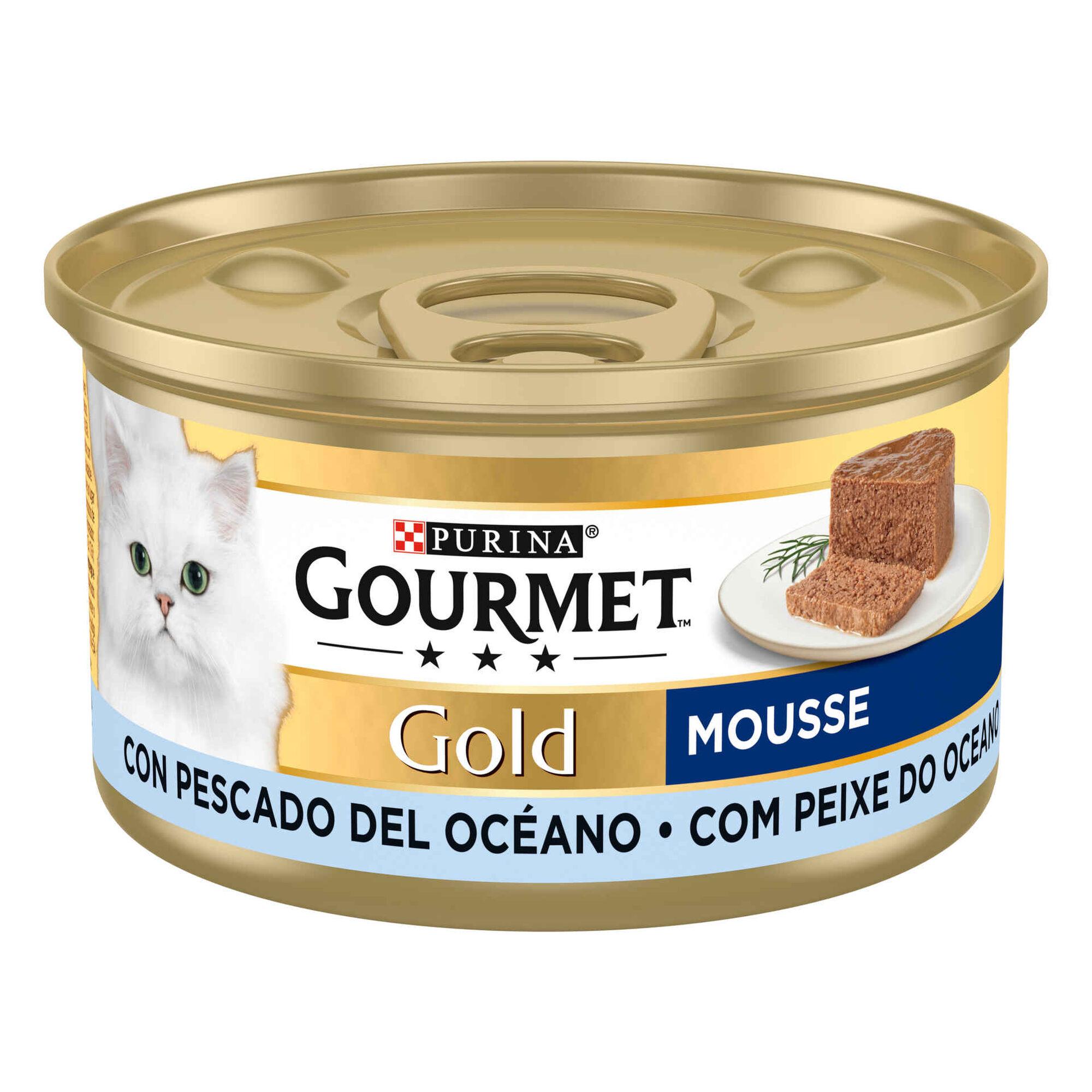 Comida Húmida para Gato Adulto Mousse Peixe Lata